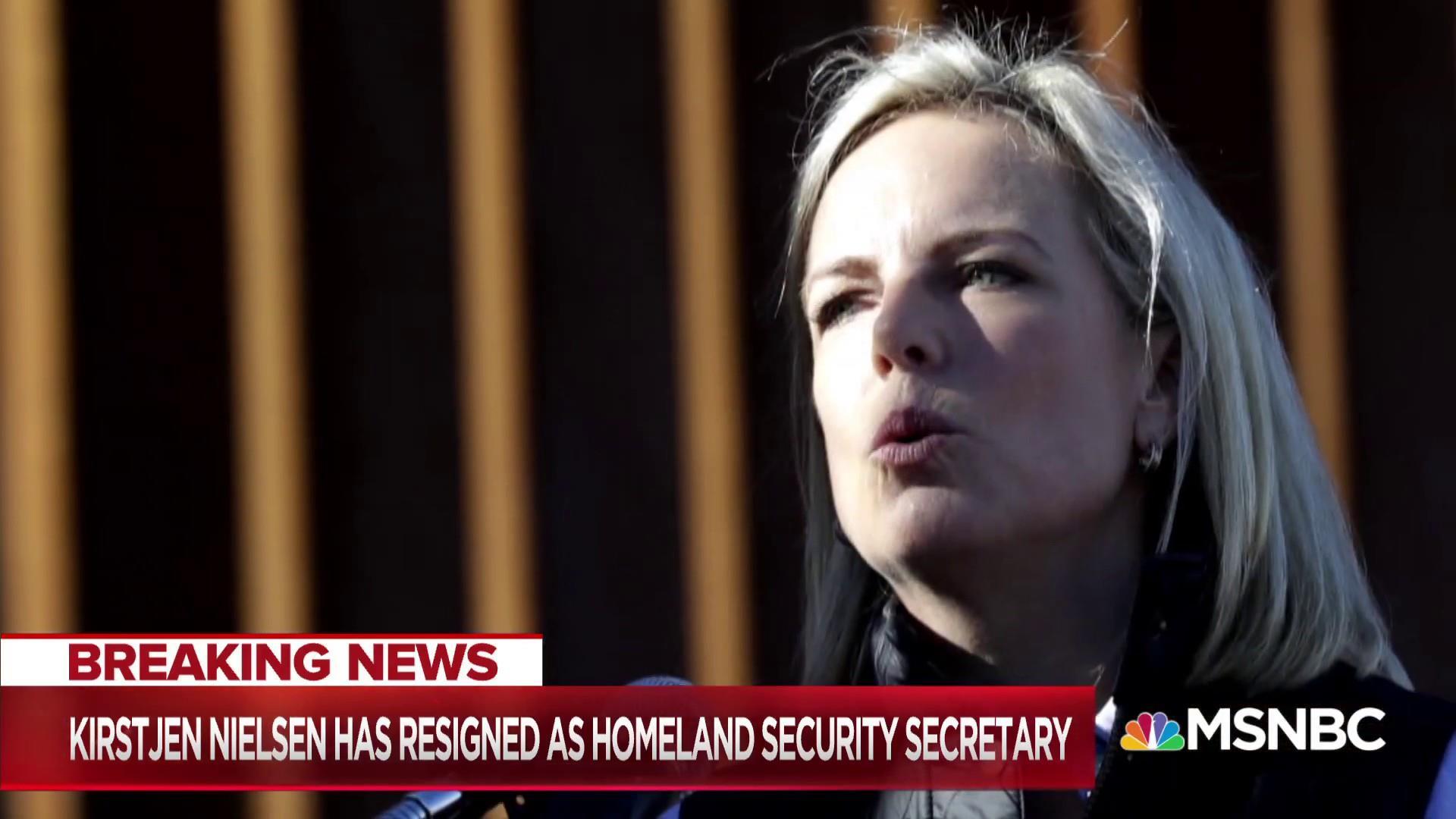 DHS Secretary Kirstjen Nielsen resigns after meeting with President Trump