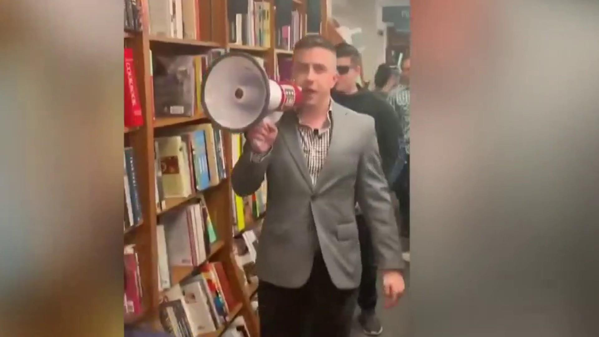 Self-proclaimed white nationalists disrupt event on 'whiteness'