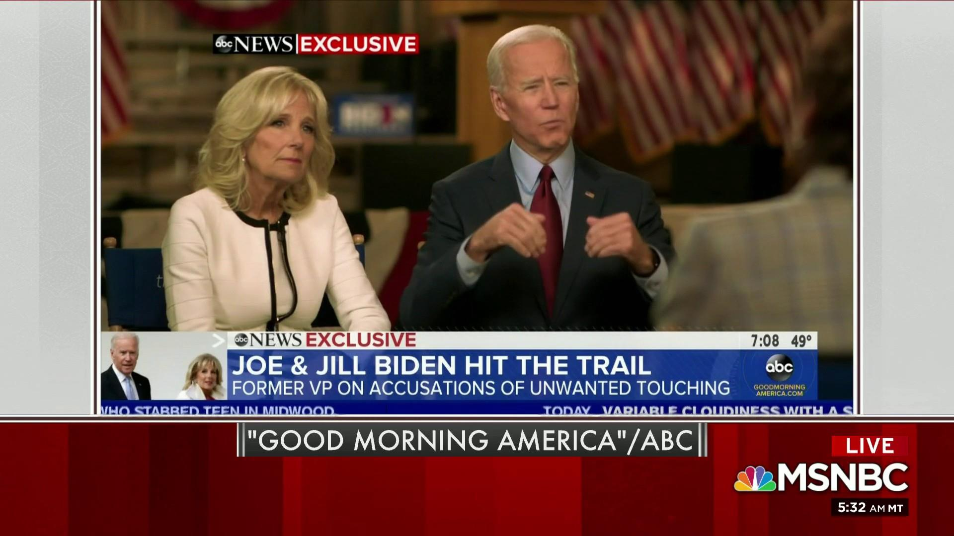 Biden responds to allegations in Tuesday interview
