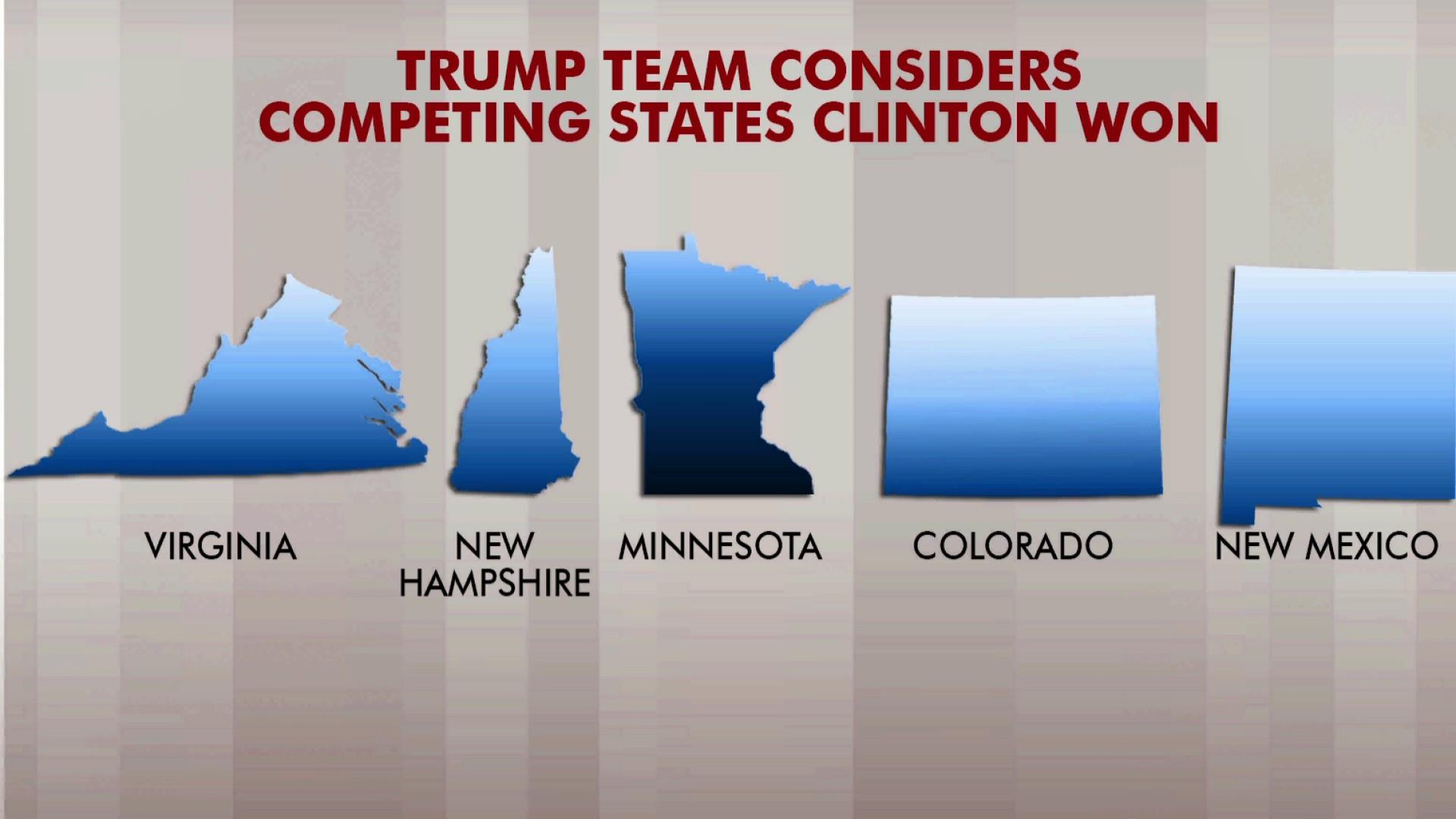 Trump campaign team looks at targeting Clinton states