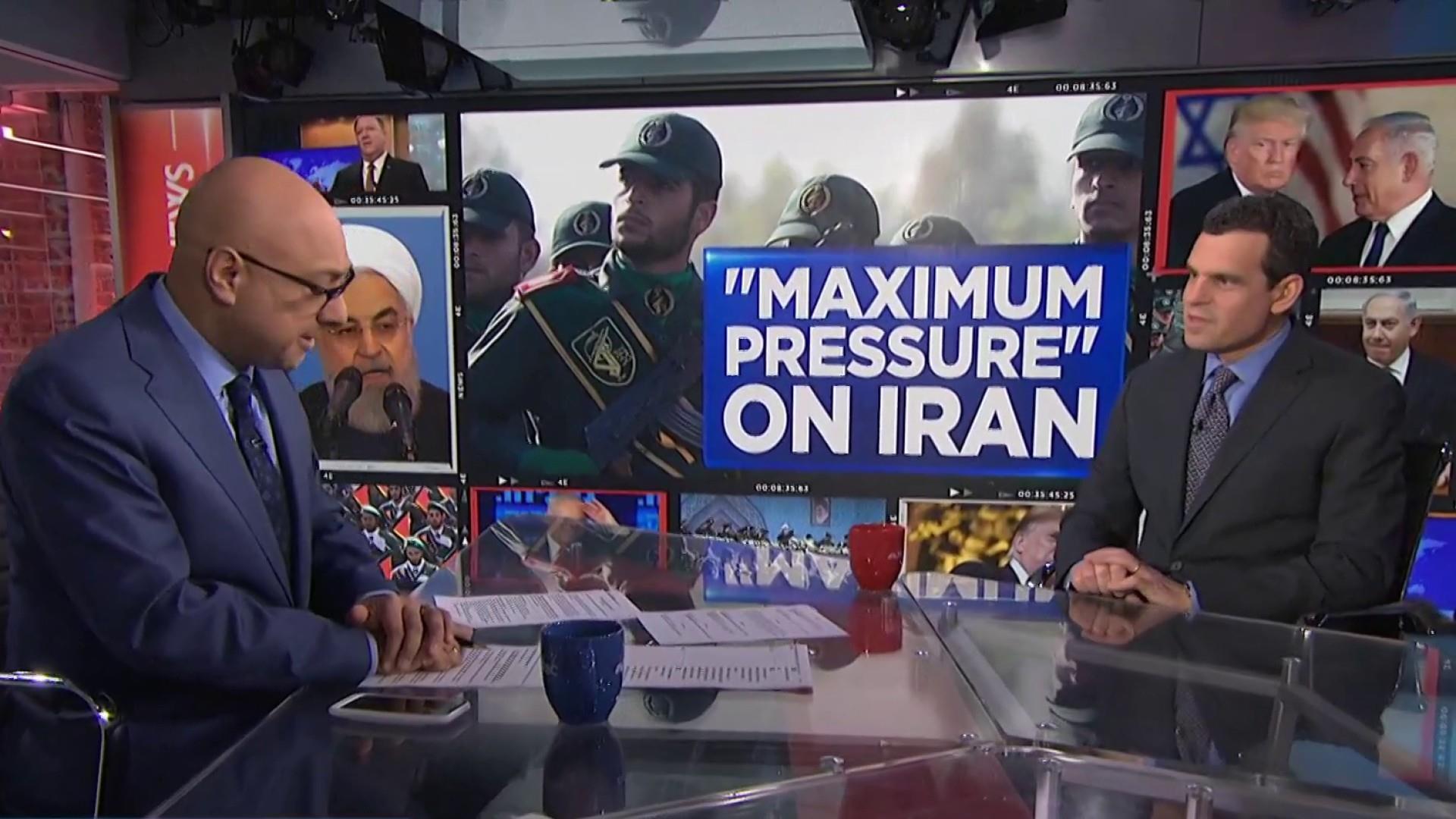 U.S. ups pressure on Iran by targeting top security service