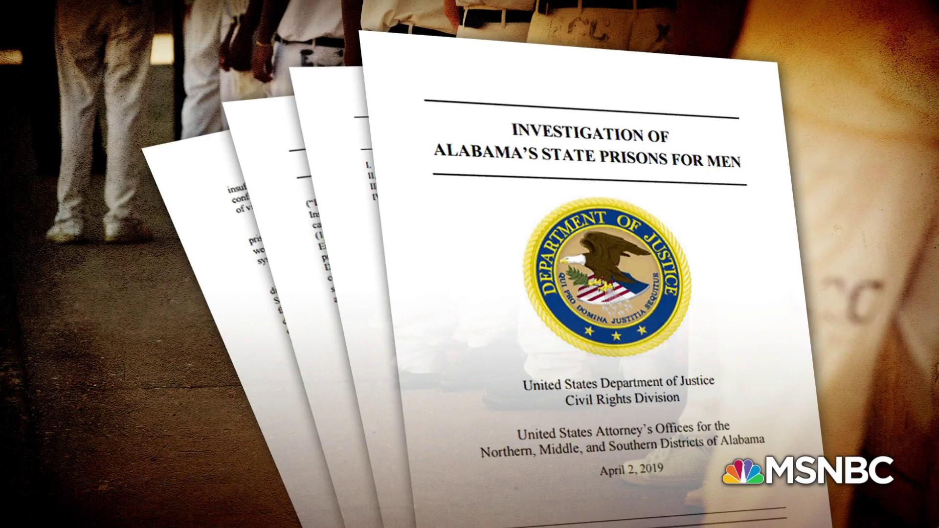 DOJ report: rampant inmate abuse in Alabama prisons