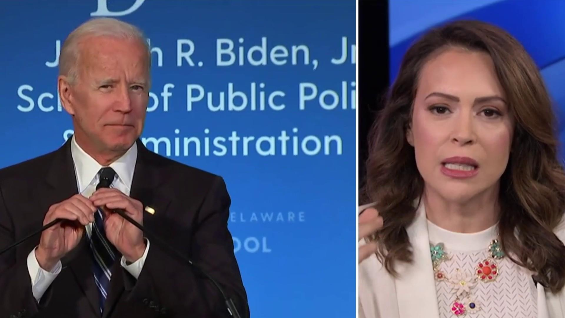Alyssa Milano on the start of Joe Biden's campaign