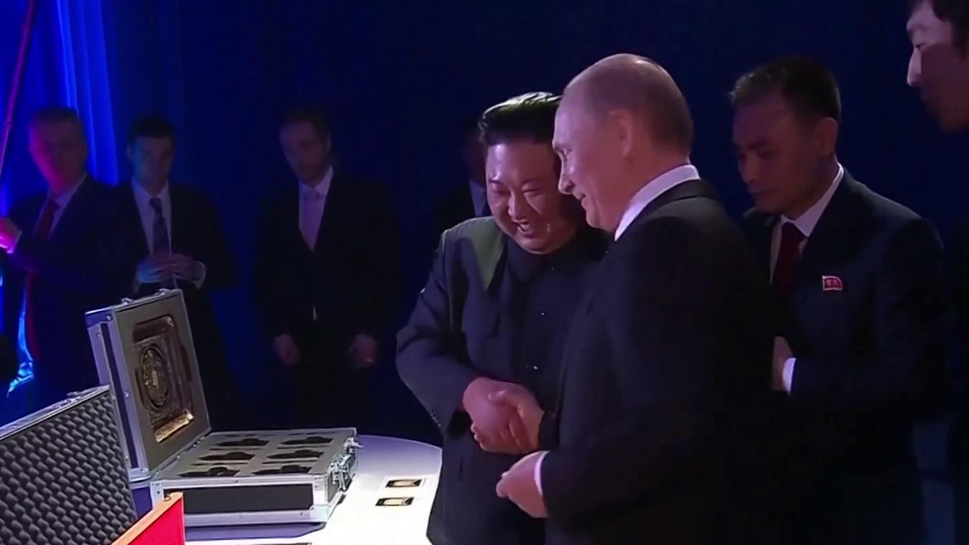 Kim Jong Un and Vladimir Putin hold first summit in Russia