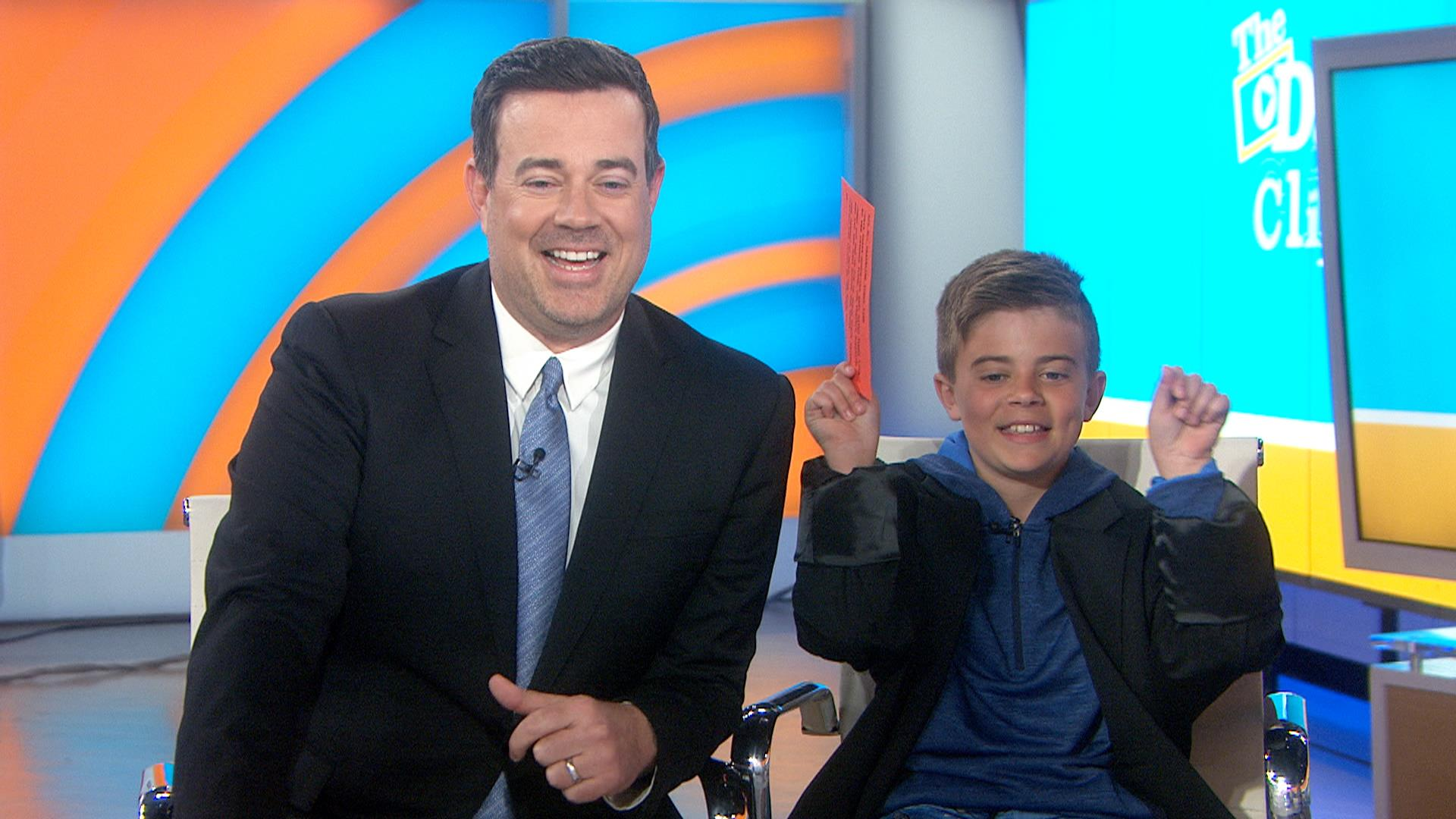 Carson S Son Jackson Stops By To Share Our Daly Click
