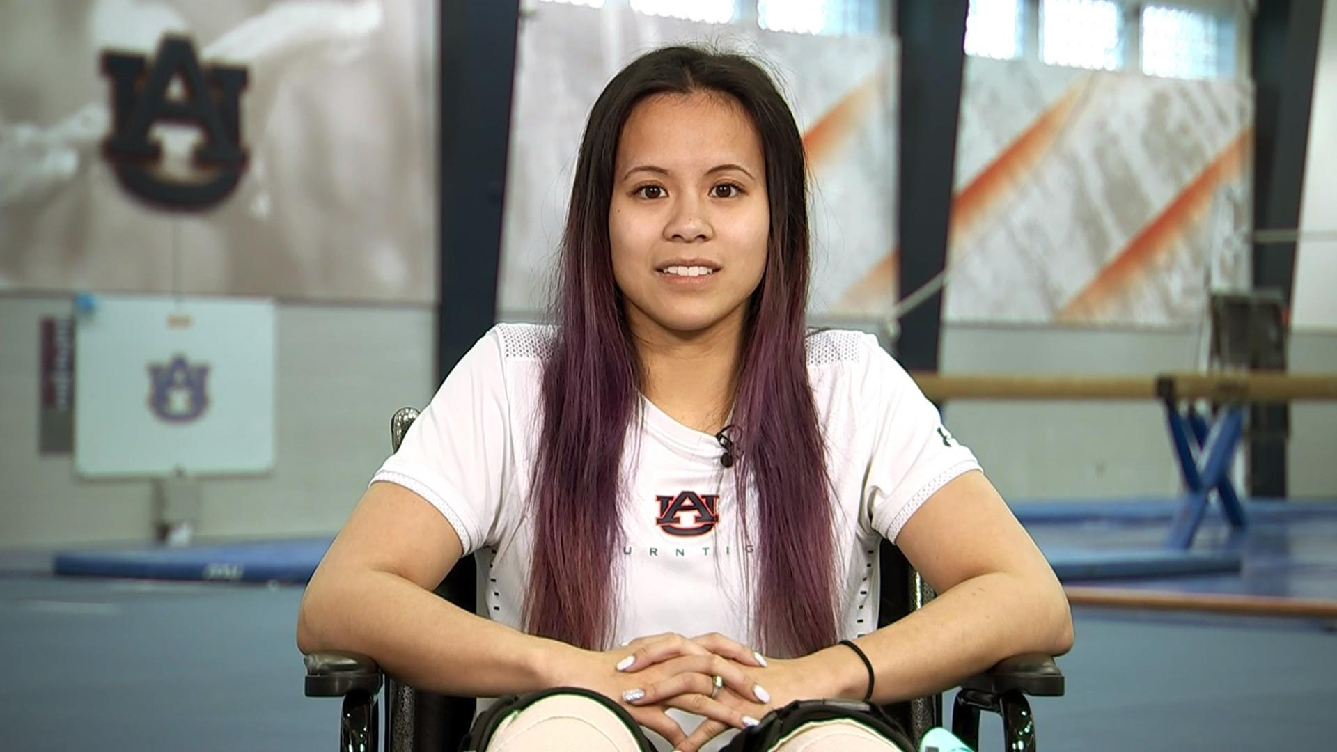 915cc49e4 Auburn gymnast Samantha Cerio opens up about moment of career-ending  injury.