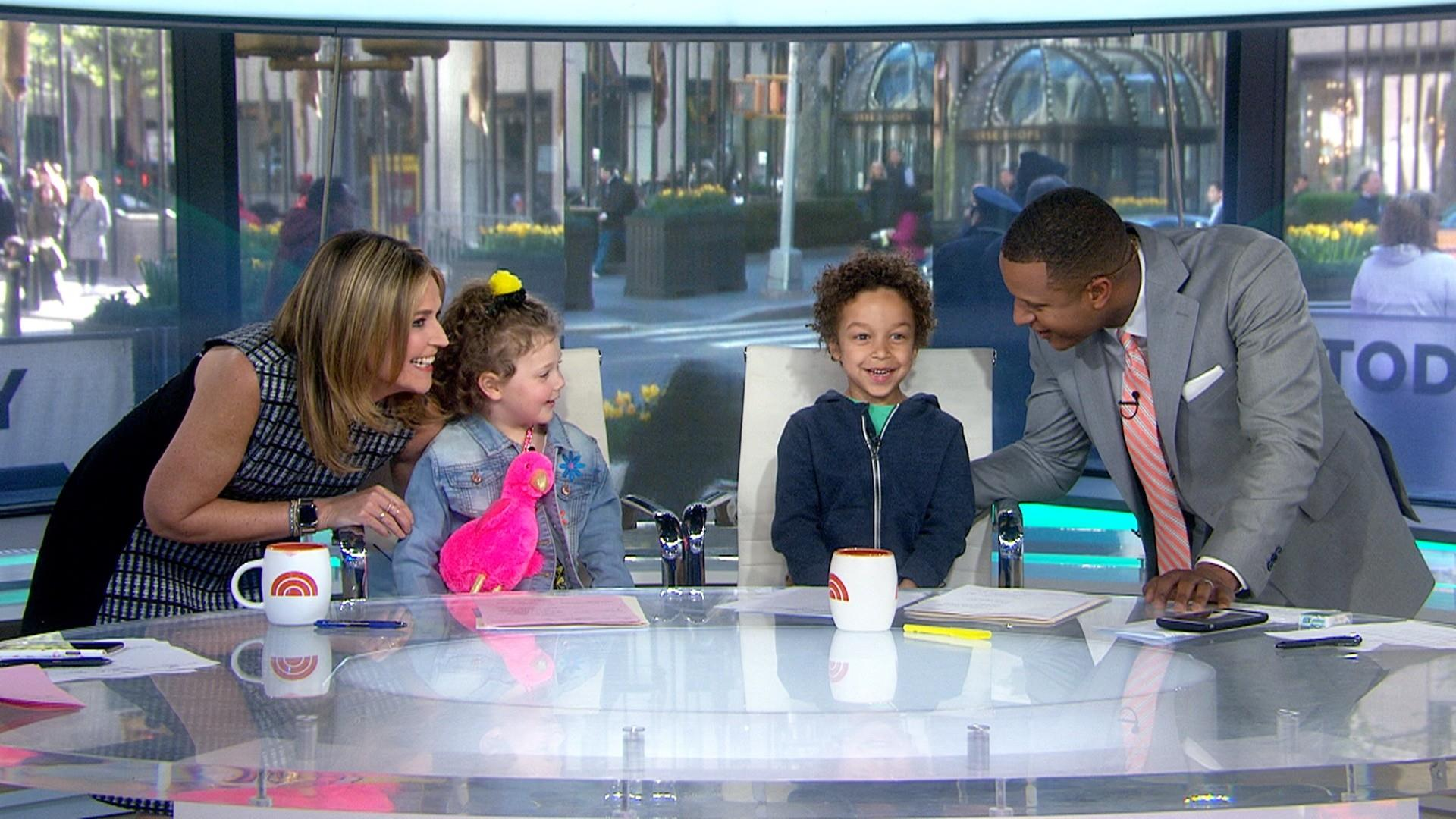 Savannah Guthrie and Craig Melvin's kids fill in at the TODAY desk