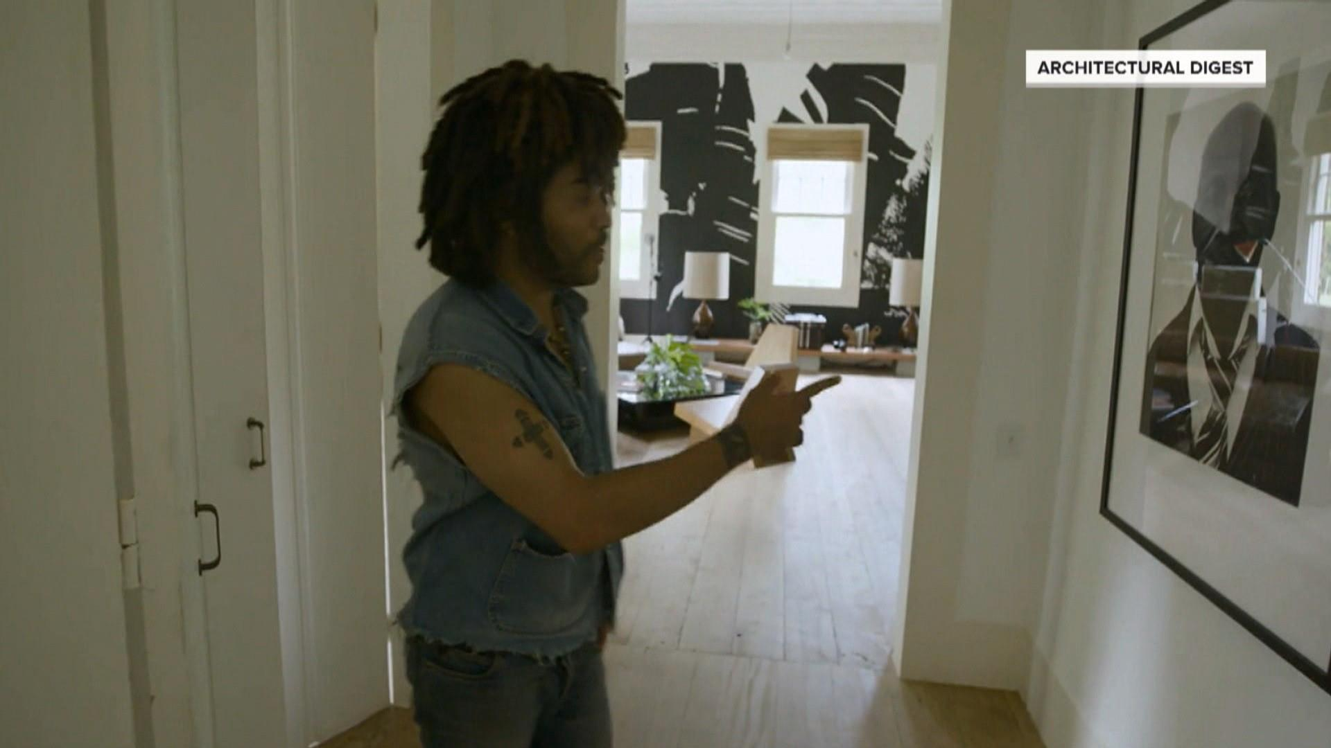 Lenny Kravitz gives Arch Digest a look inside his Brazil home
