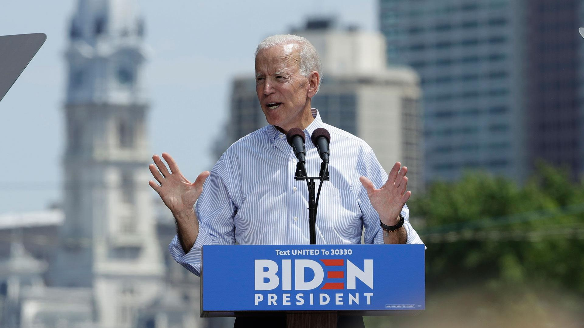 Joe Biden holds official campaign kickoff rally in Philadelphia