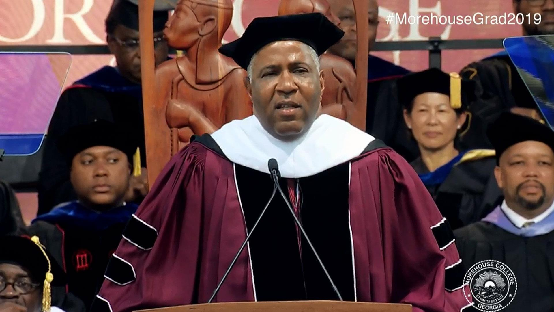 Philanthropist Robert Smith pledges millions to clear Morehouse grads' student debt