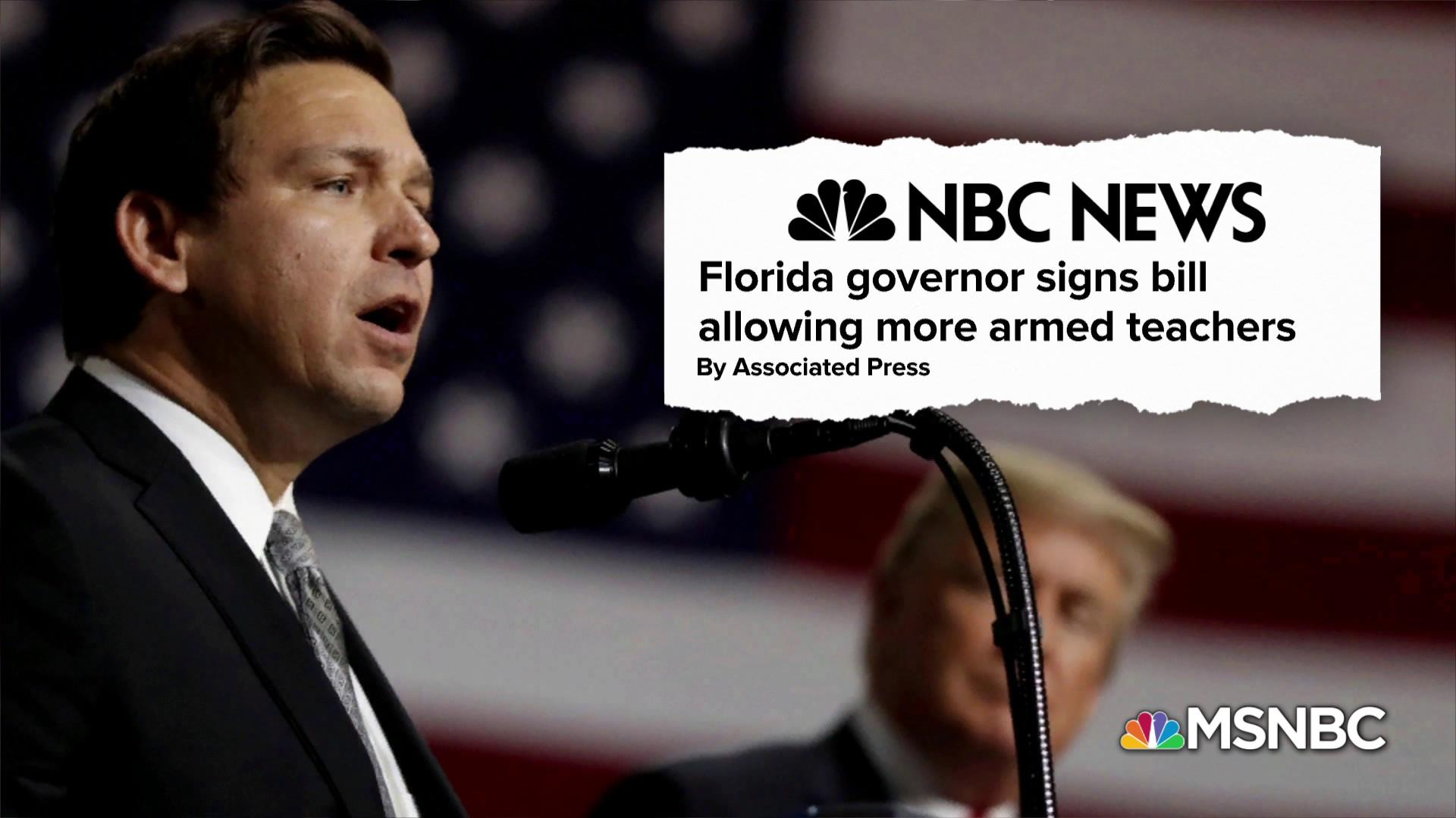 Florida governor signs bill allowing teachers to carry firearms