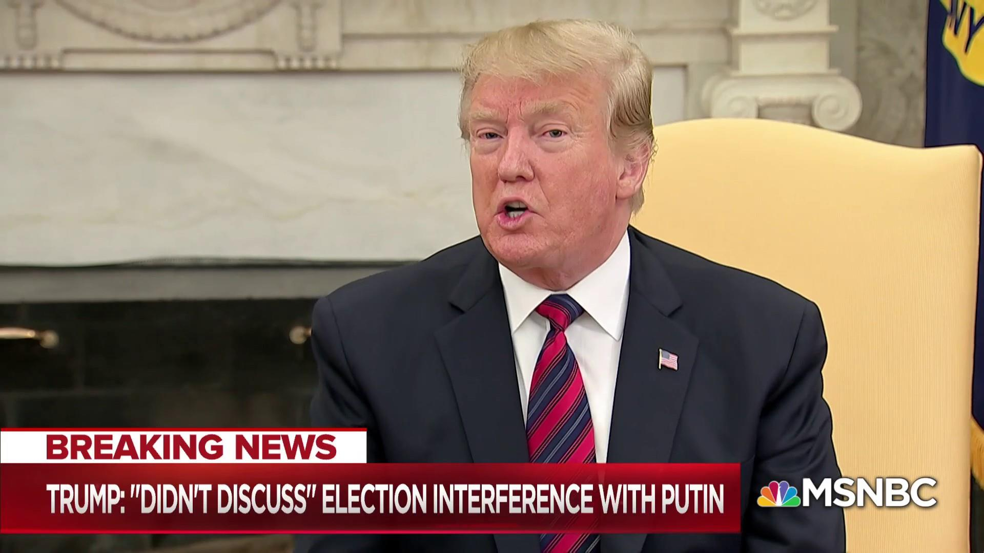 Trump & Putin agree to forget election interference