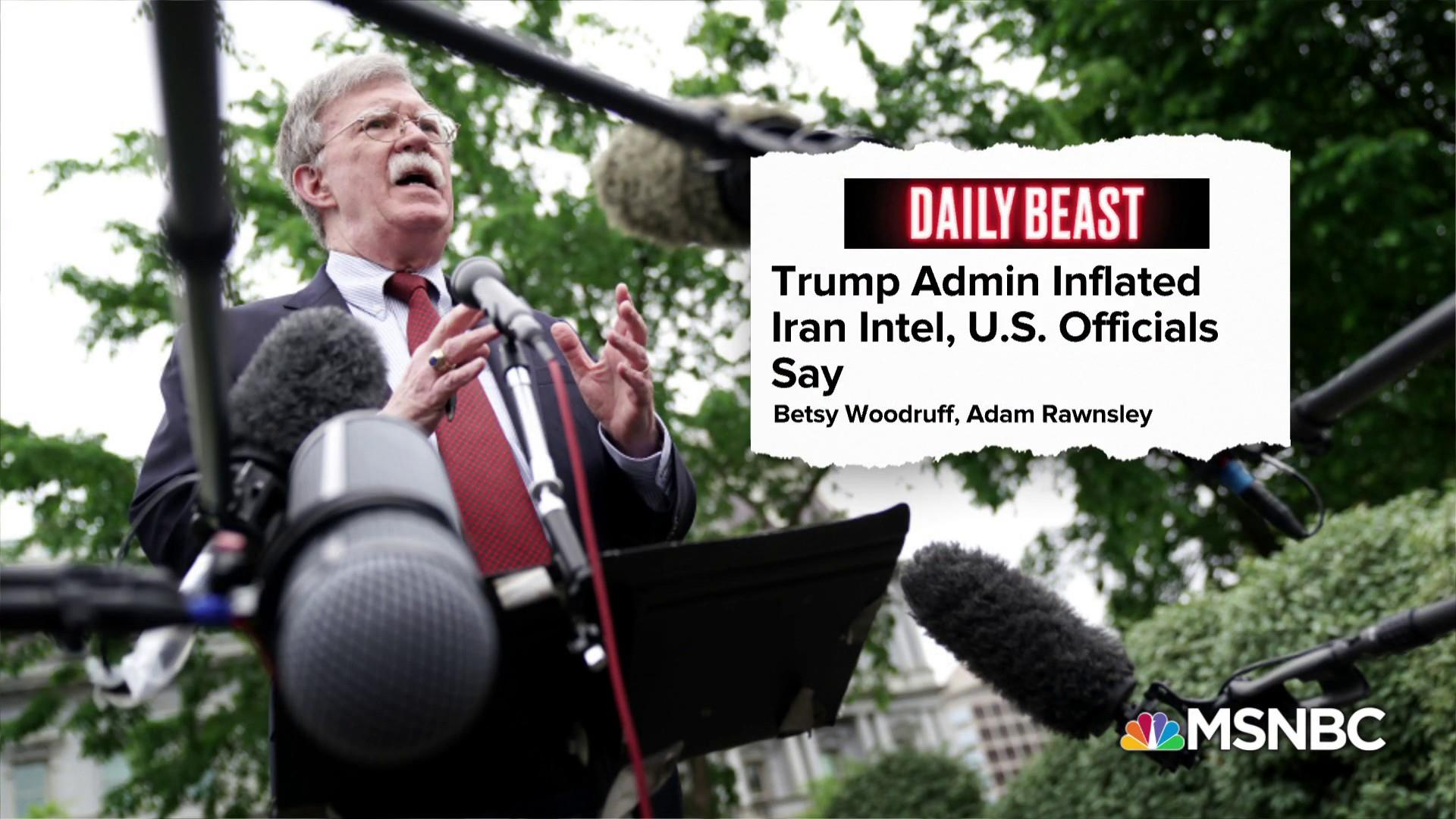 Daily Beast: Trump Administration inflating Iran intelligence