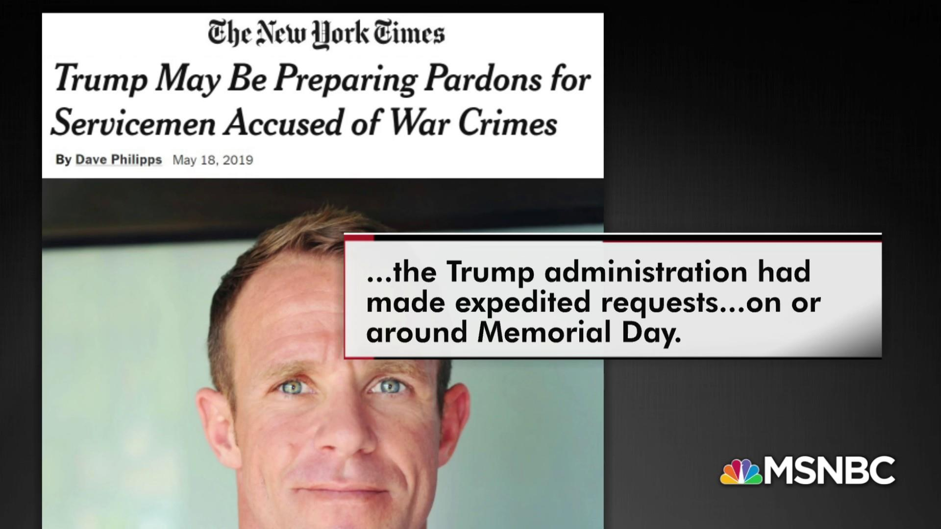 Will Trump pardon accused war criminals?
