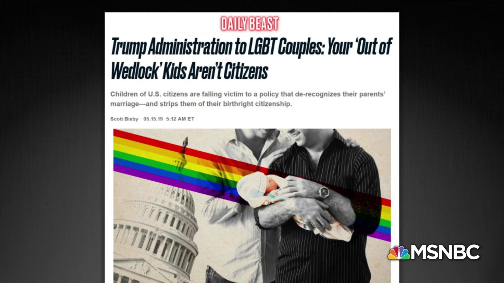US denies citizenship to some kids of same-sex couples