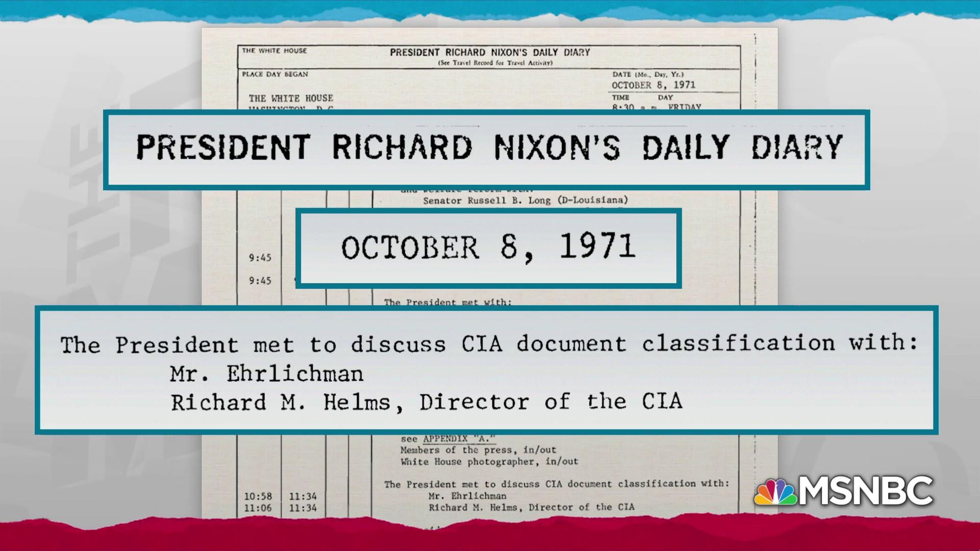 Trump weaponizing intel for politics borrows from Nixon playbook