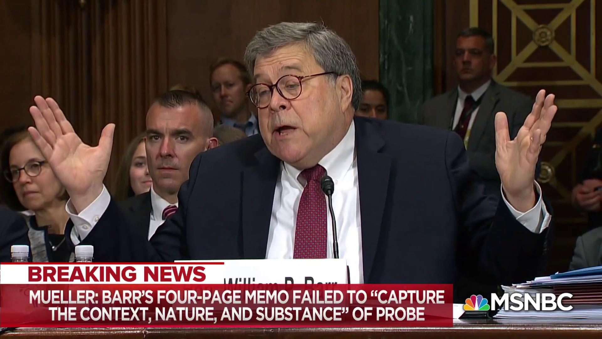Barr makes dubious legal claims; letter exposes rift with Muller
