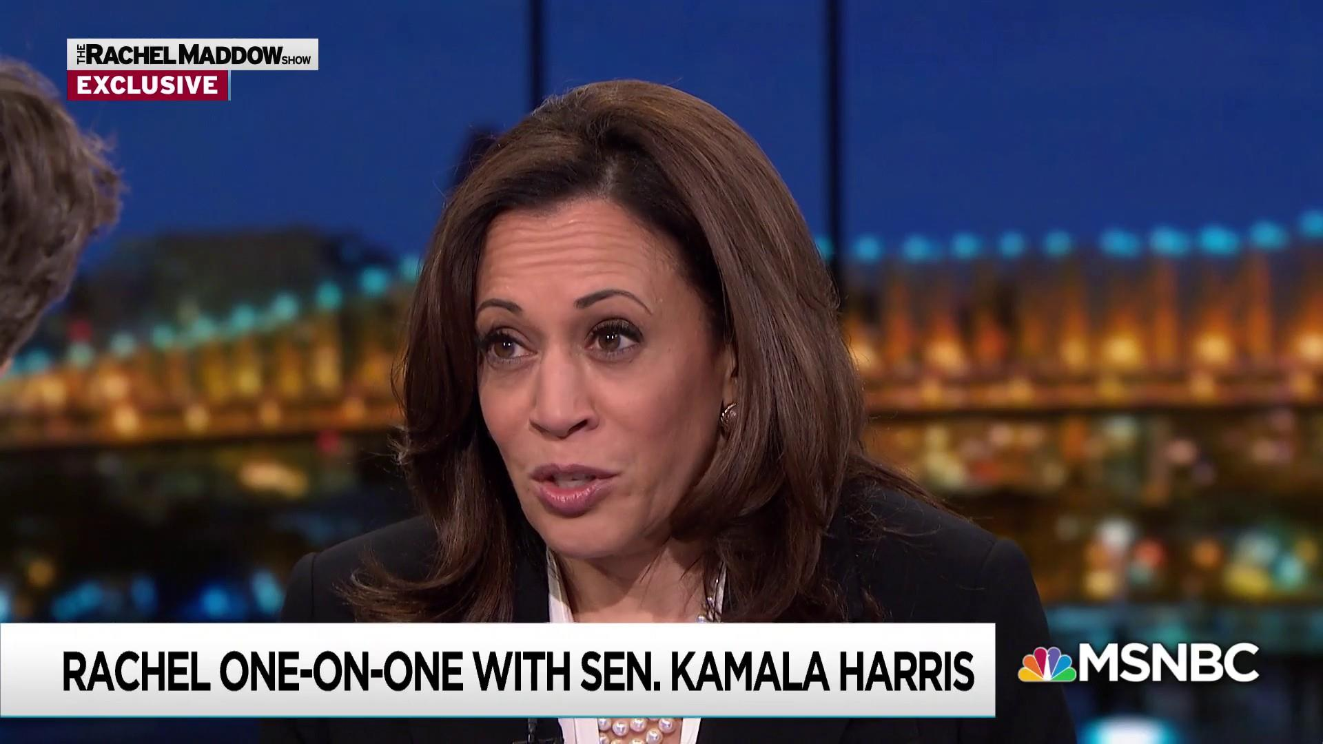 Harris: Senate Intel probe of Trump 'still a live inquiry'