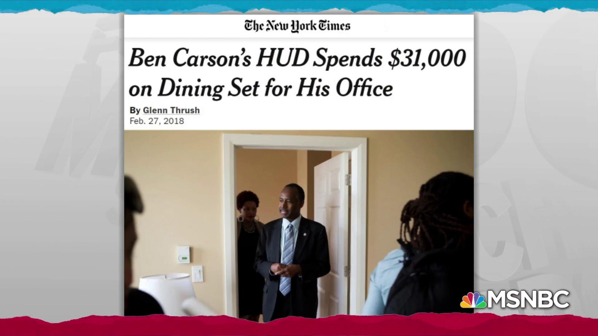 Ben Carson's extravagant spending broke the law: GAO