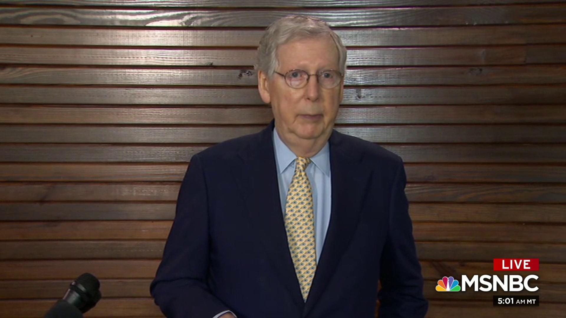Sen. McConnell to say 'case closed' on Mueller
