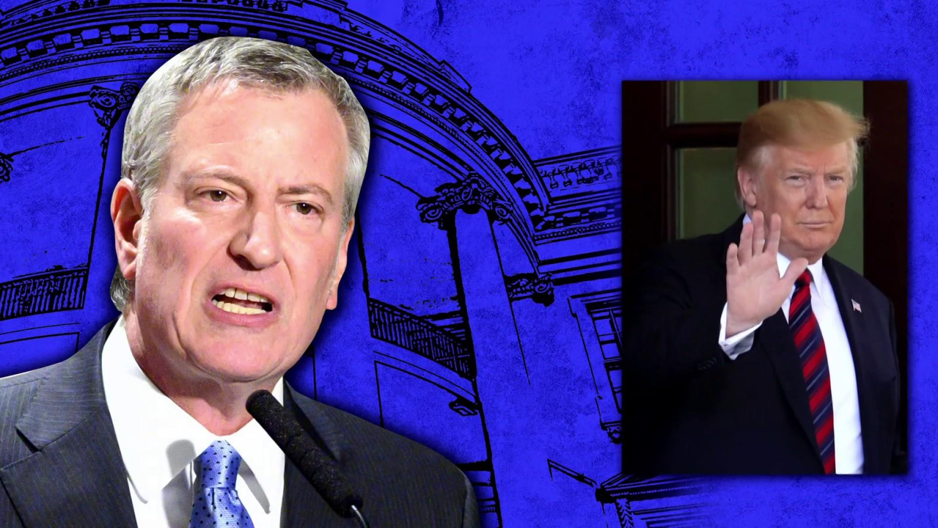"""WATCH: Mayor Bill De Blasio's announcement draws """"colorful"""" responses from New Yorkers"""