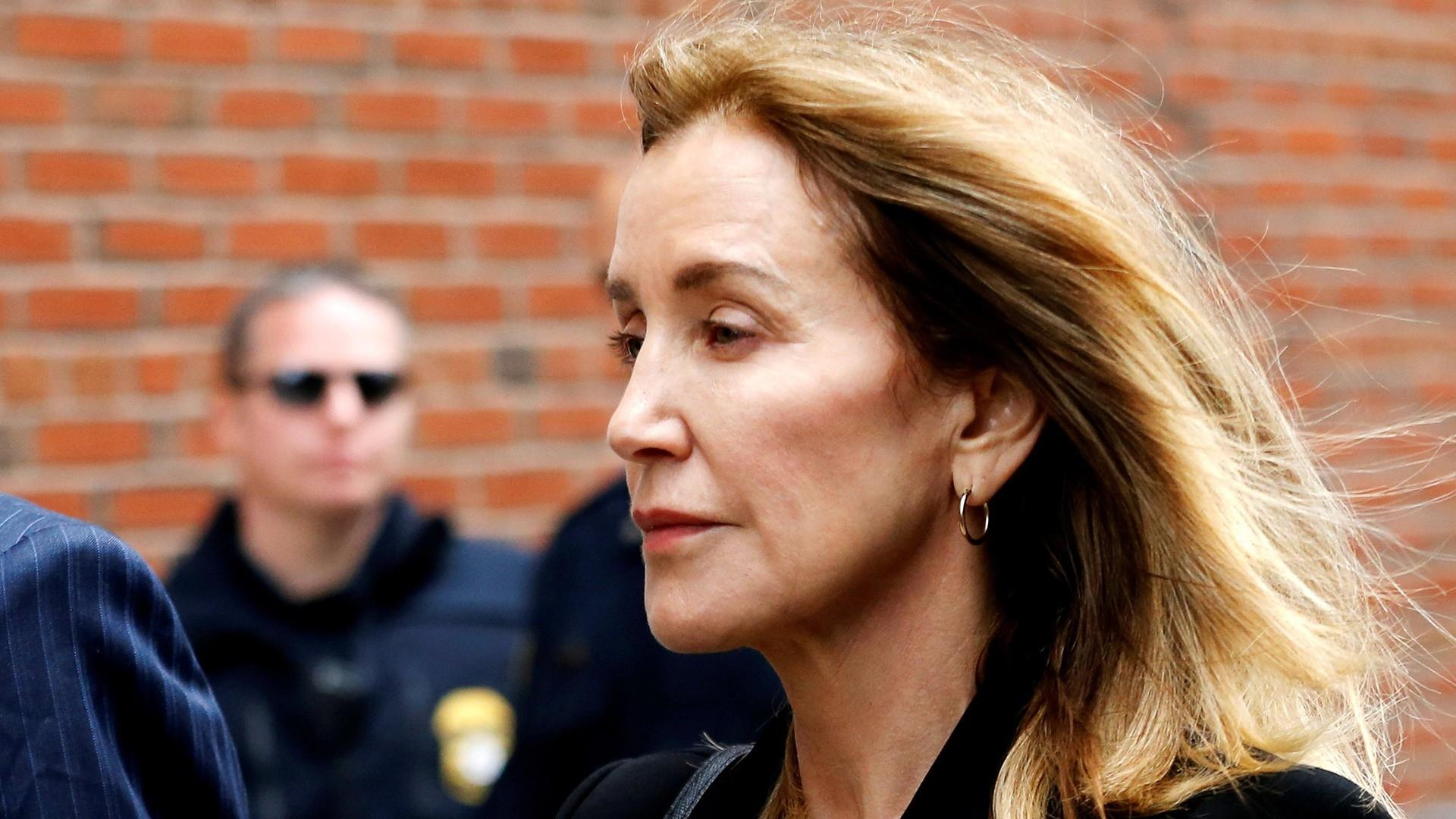 Actress Felicity Huffman pleads guilty at Boston court appearance