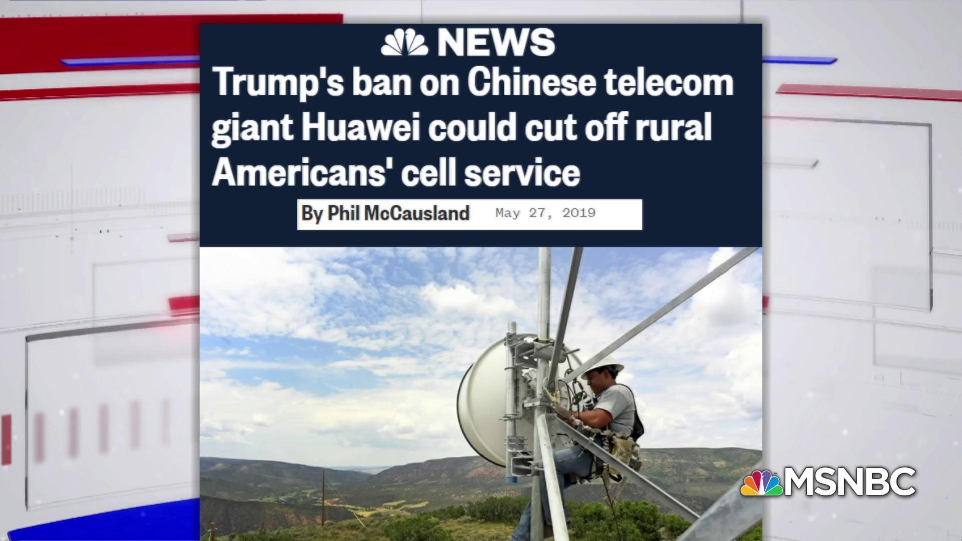 How rural America could feel the brunt of a Huawei ban