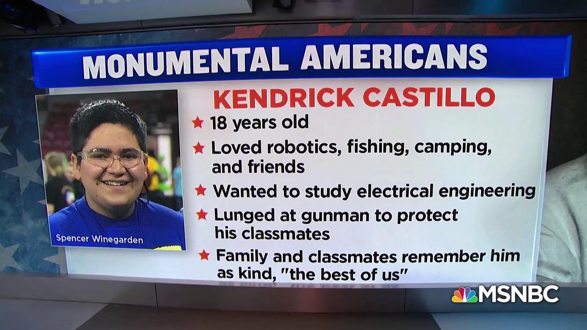 #MonumentalAmerican: Kendrick Castillo, STEM School shooting hero