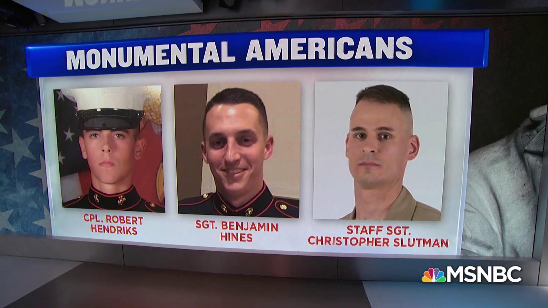 #MonumentalAmericans: 3 Marines killed days before coming home