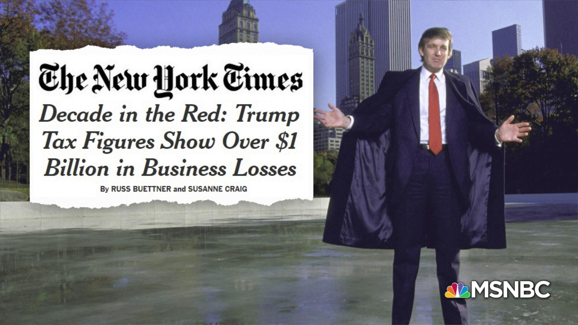 Trump's 'legitimacy complex' at risk over NYT reporting on financial losses