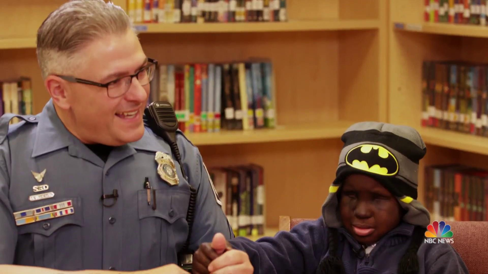 Heartwarming friendship between a boy and his school resource officer