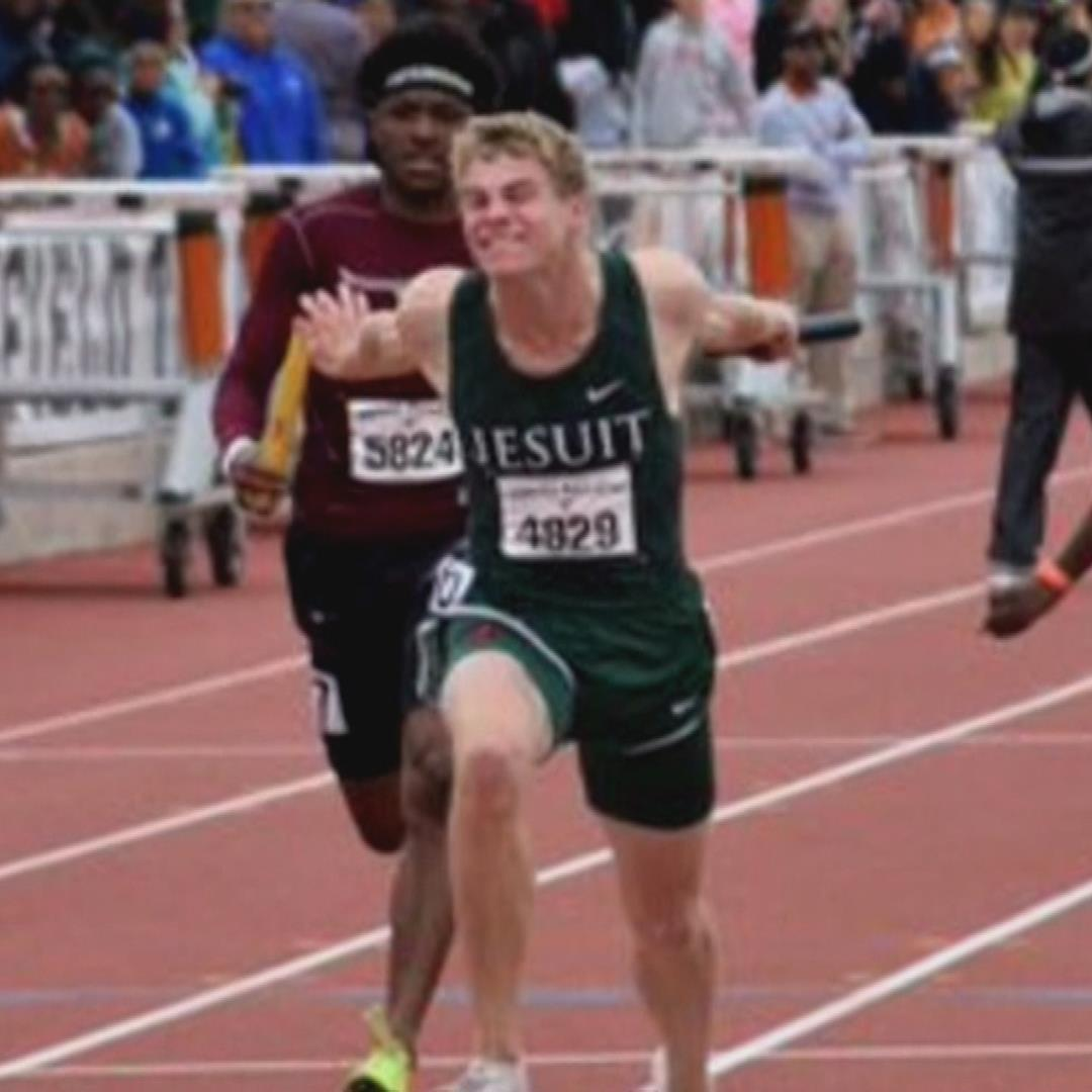 Track star goes from high school commencement to Olympic training