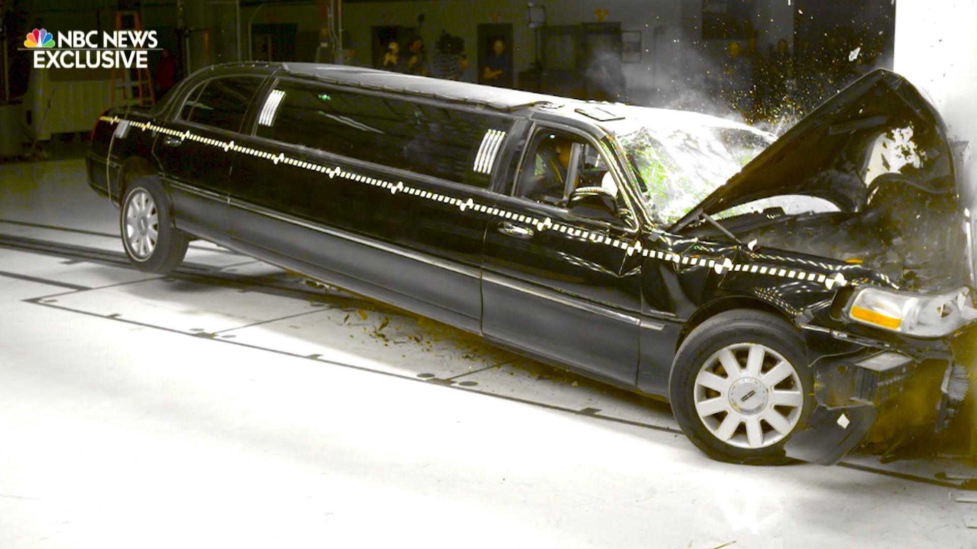 Are stretch limos safe? Watch this crash-test footage of a startling crash