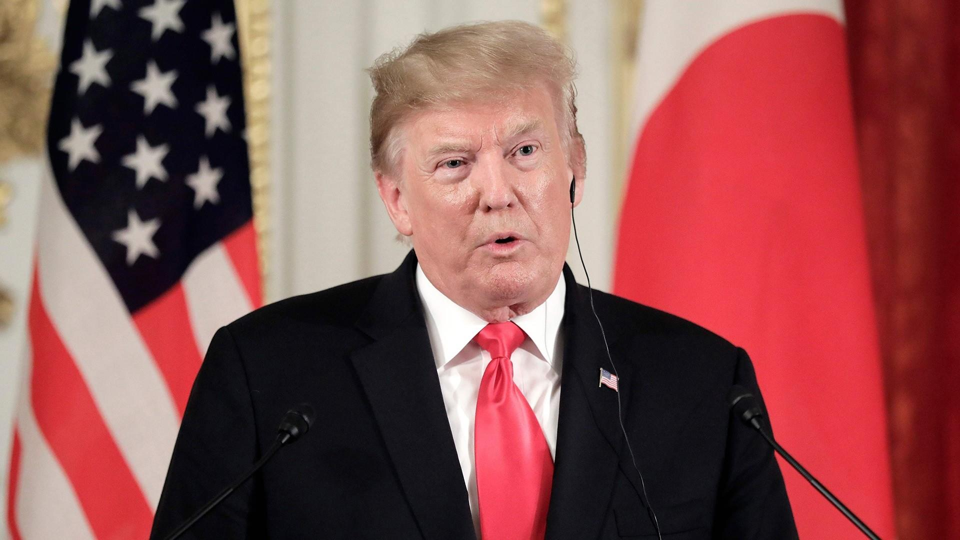 Trump meets with the prime minister of Japan on Memorial Day