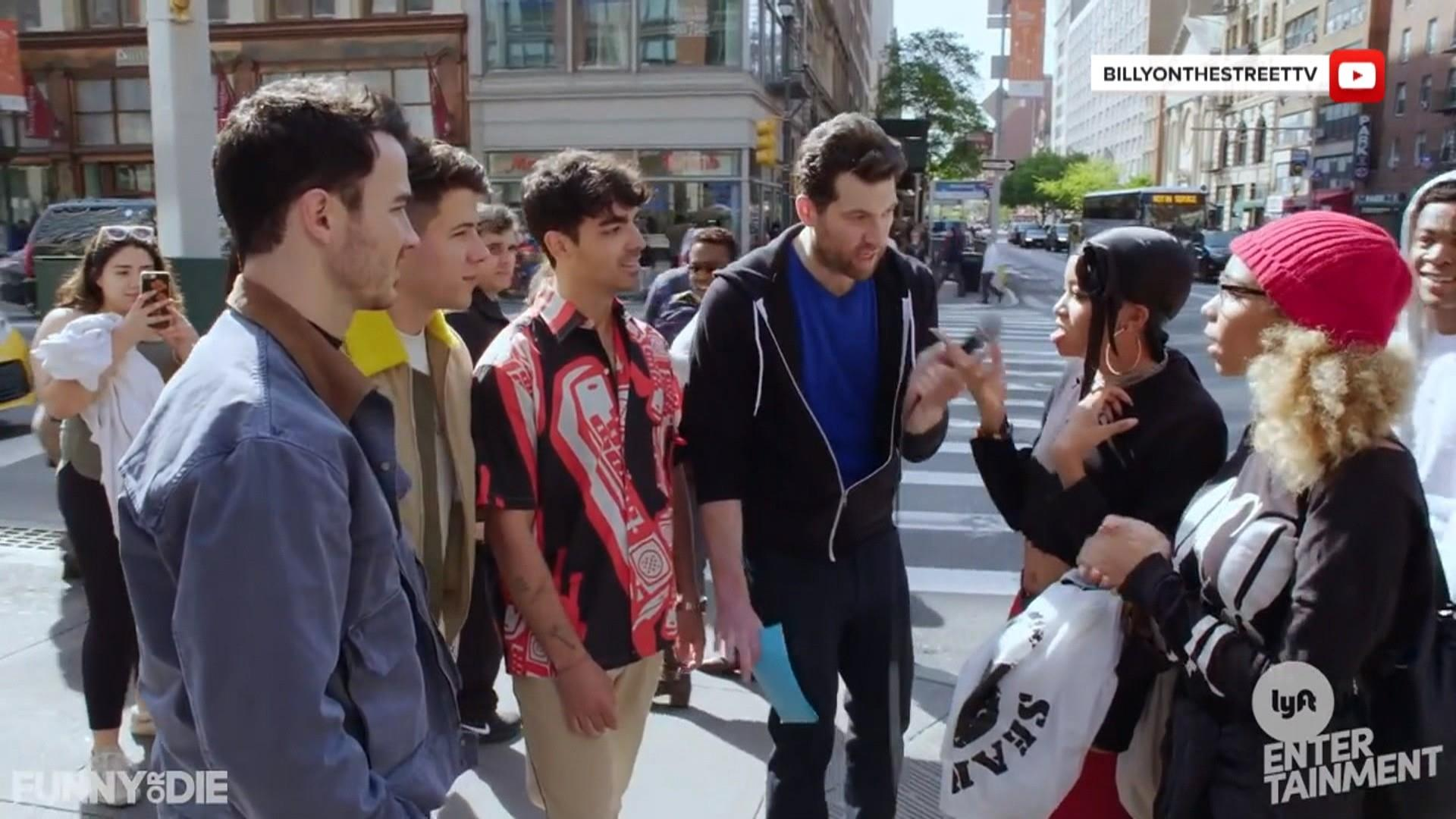 See the Jonas Brothers hit the NYC streets with Billy Eichner