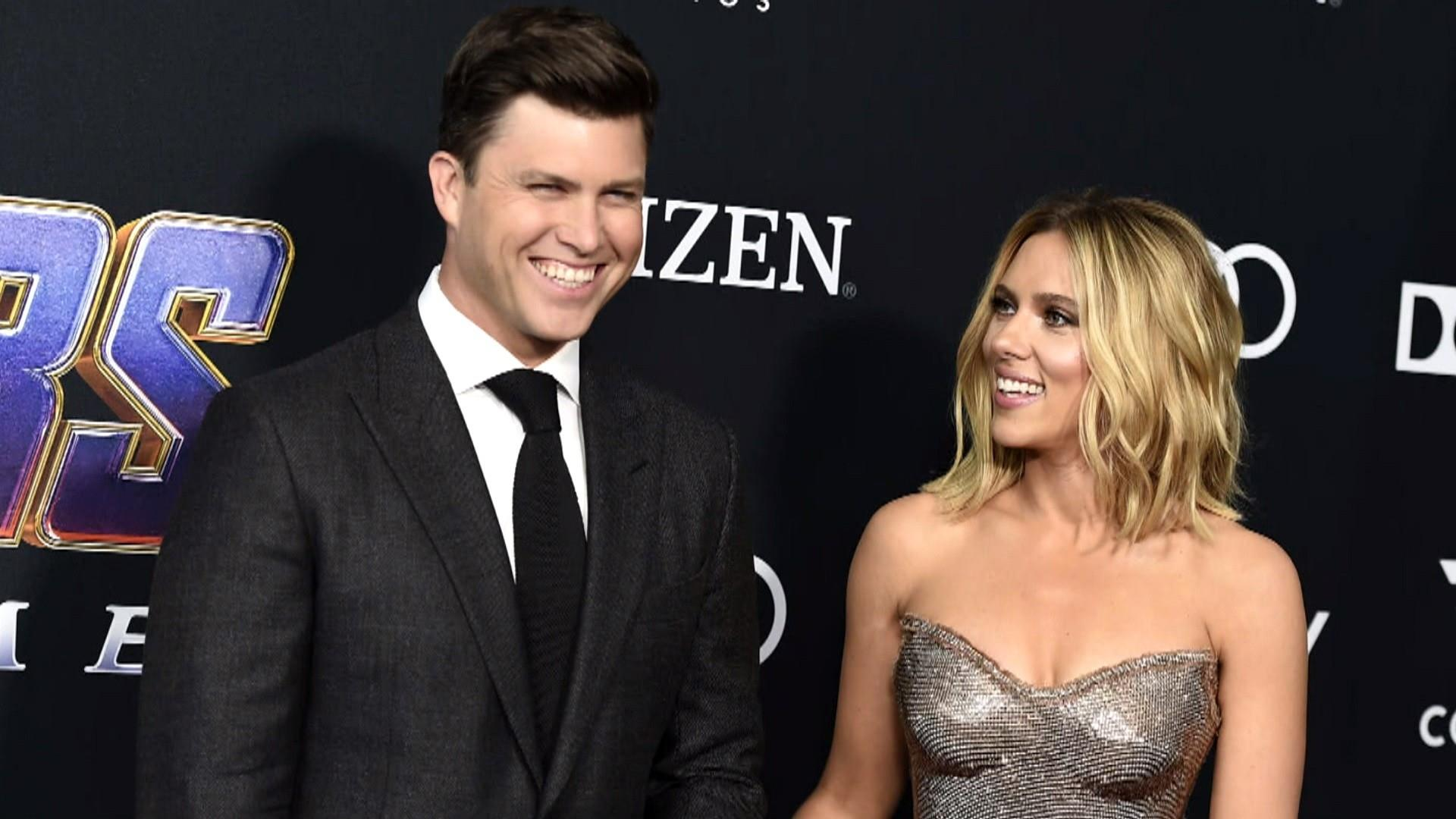 Colin Jost and Scarlett Johansson are engaged!