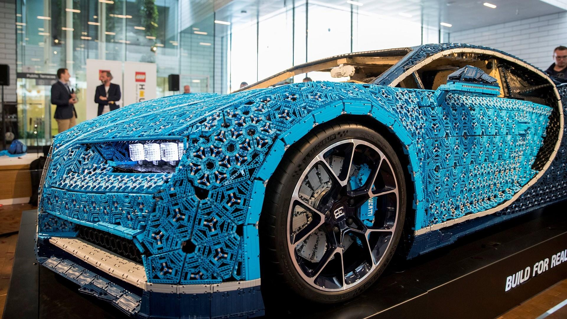 See the working Bugatti made entirely of Legos