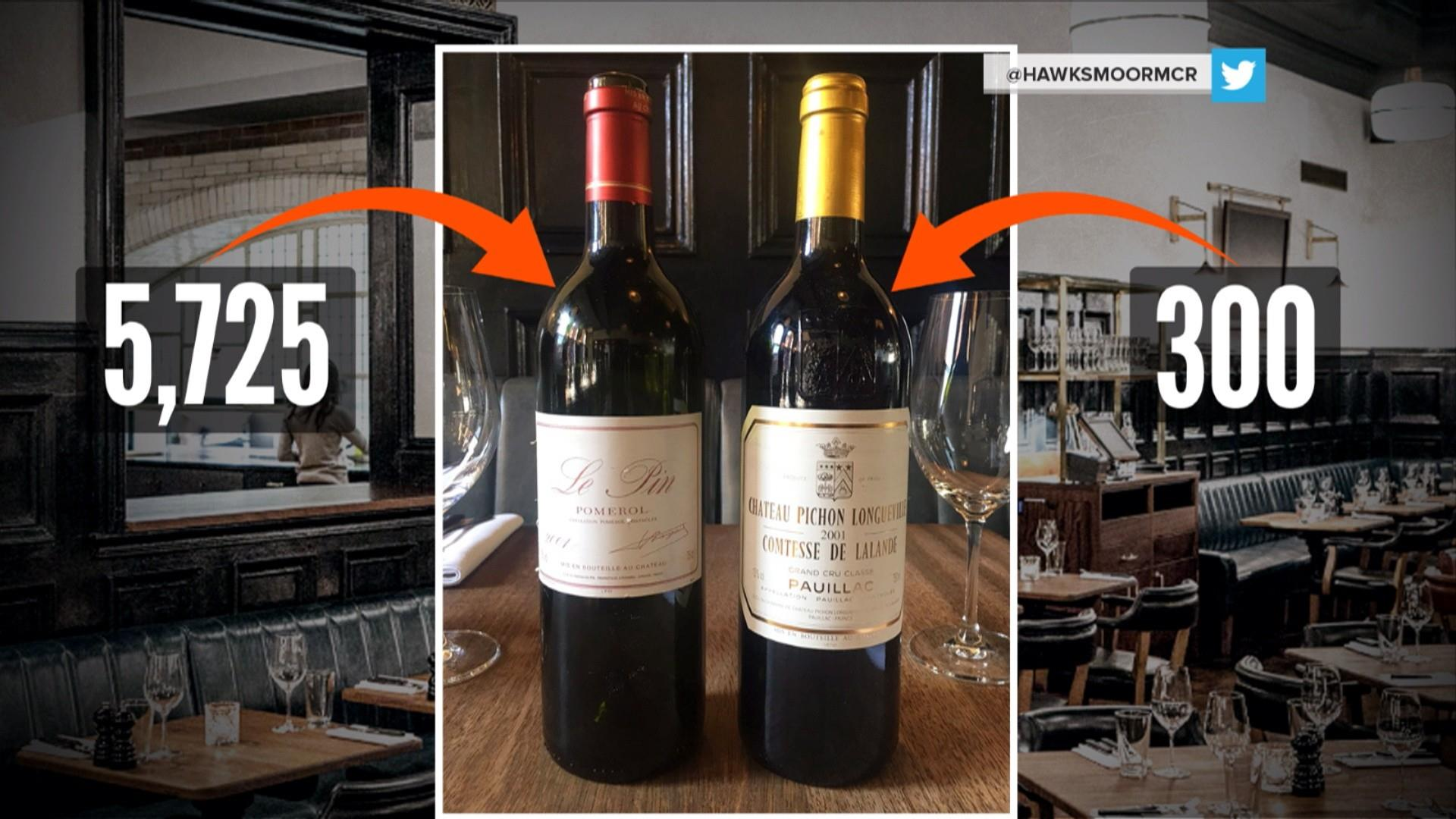 Waiter accidentally serves $5,725 bottle of wine