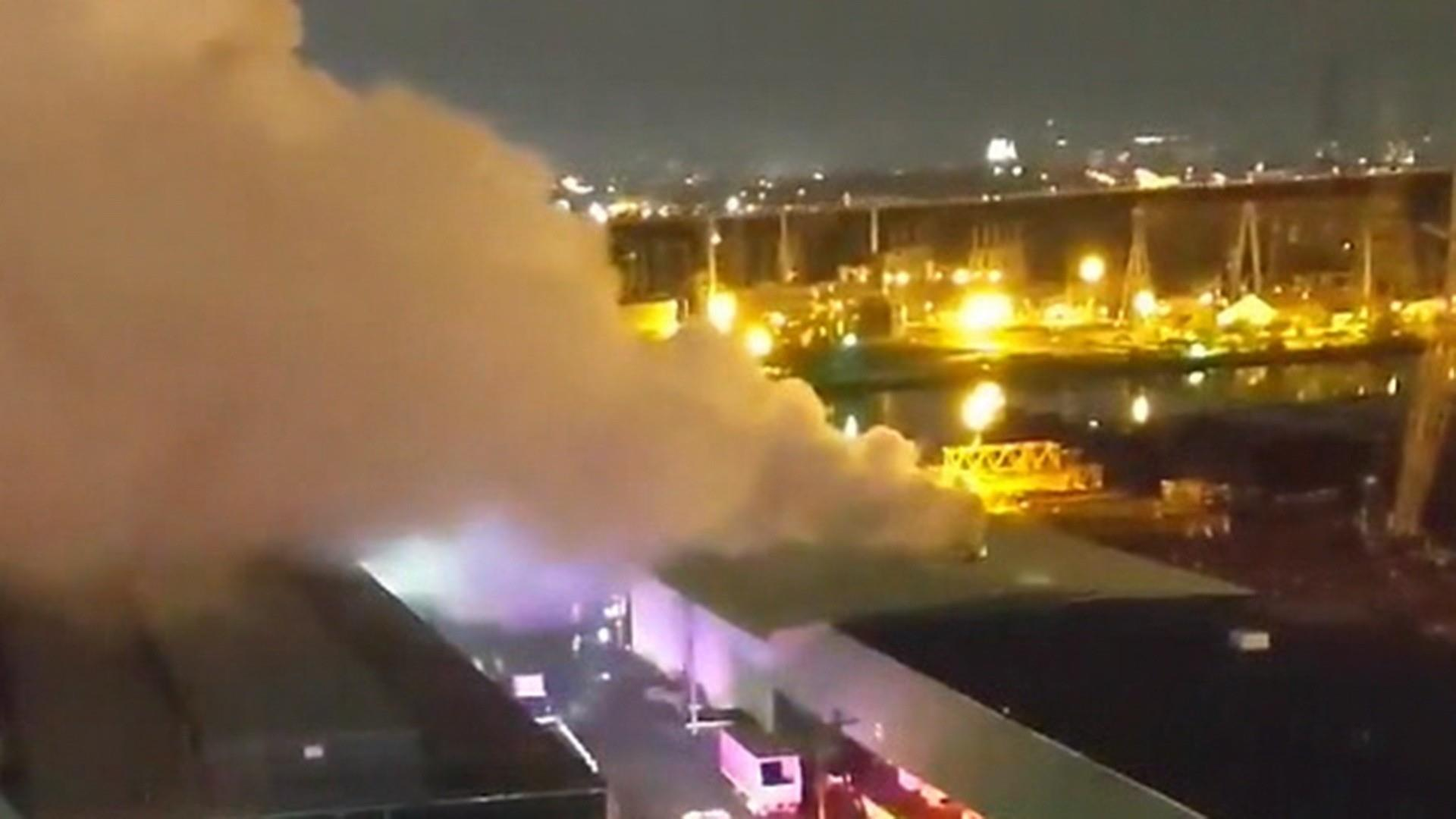 Chemical fire breaks out near New York City
