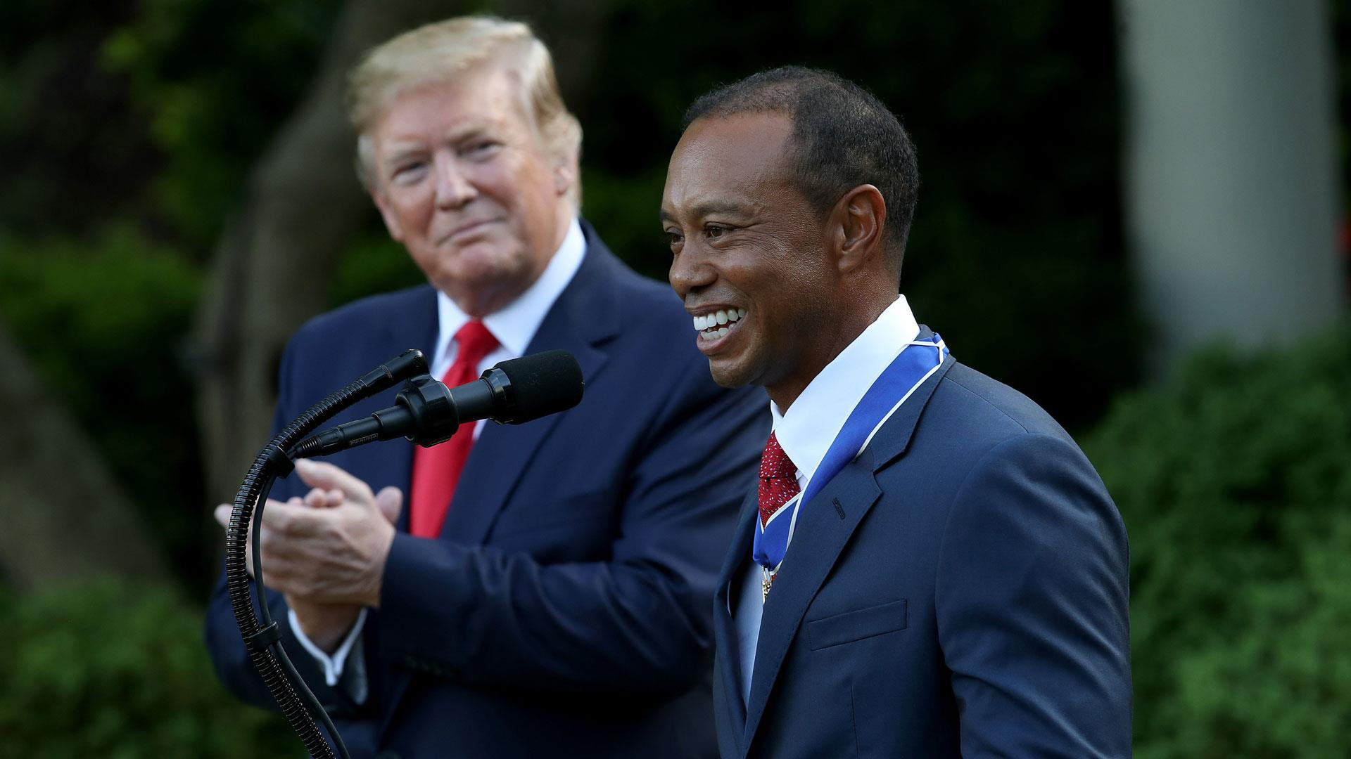 flipboard  tiger woods receives medal of freedom