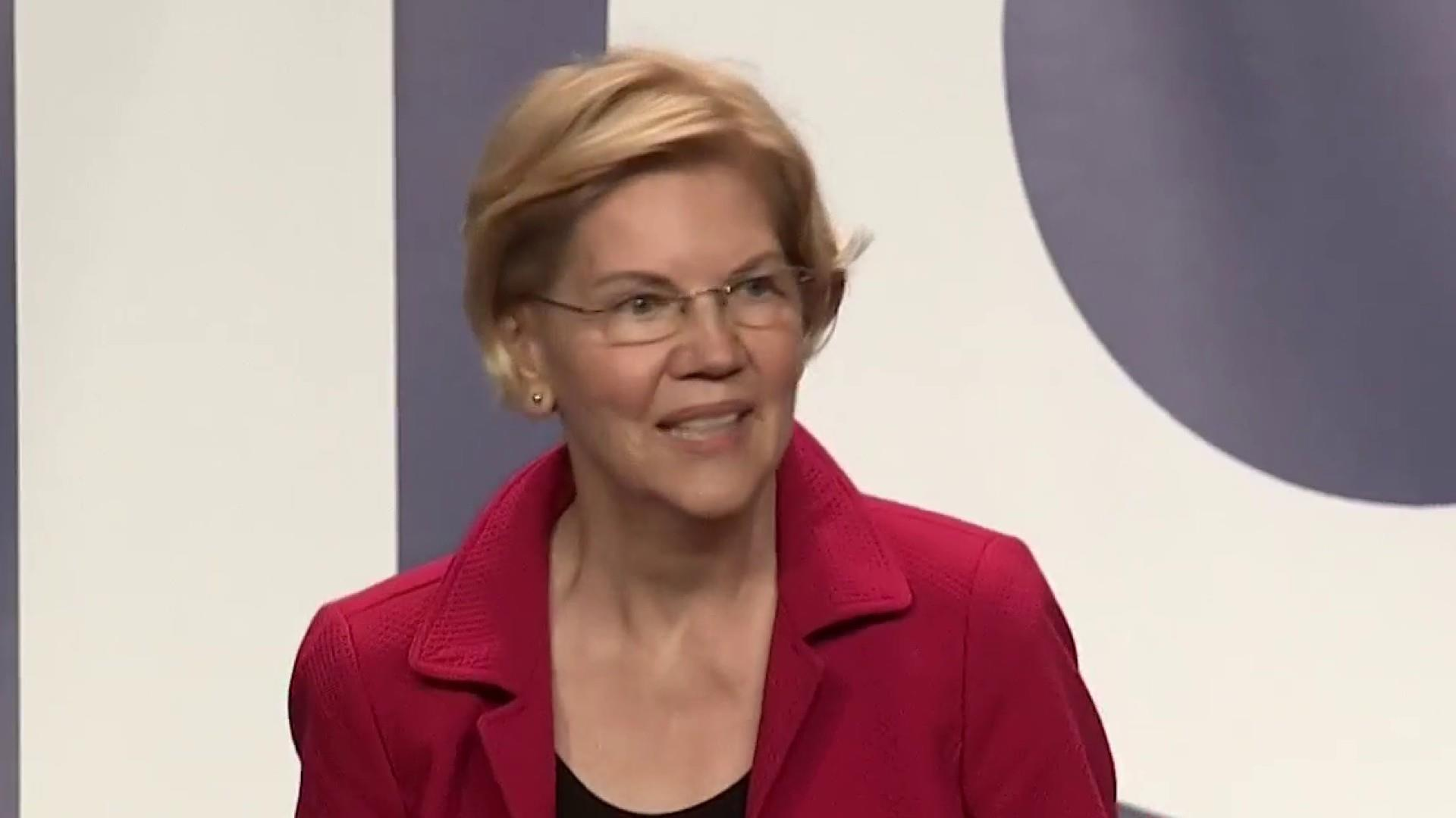 Warren rises in the polls ahead of first Democratic debate