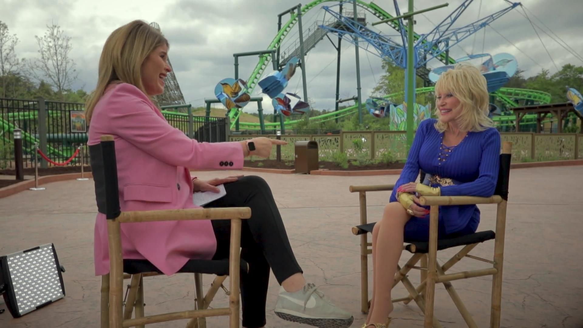 Dolly Parton chats reading and Imagination Library from Dollywood