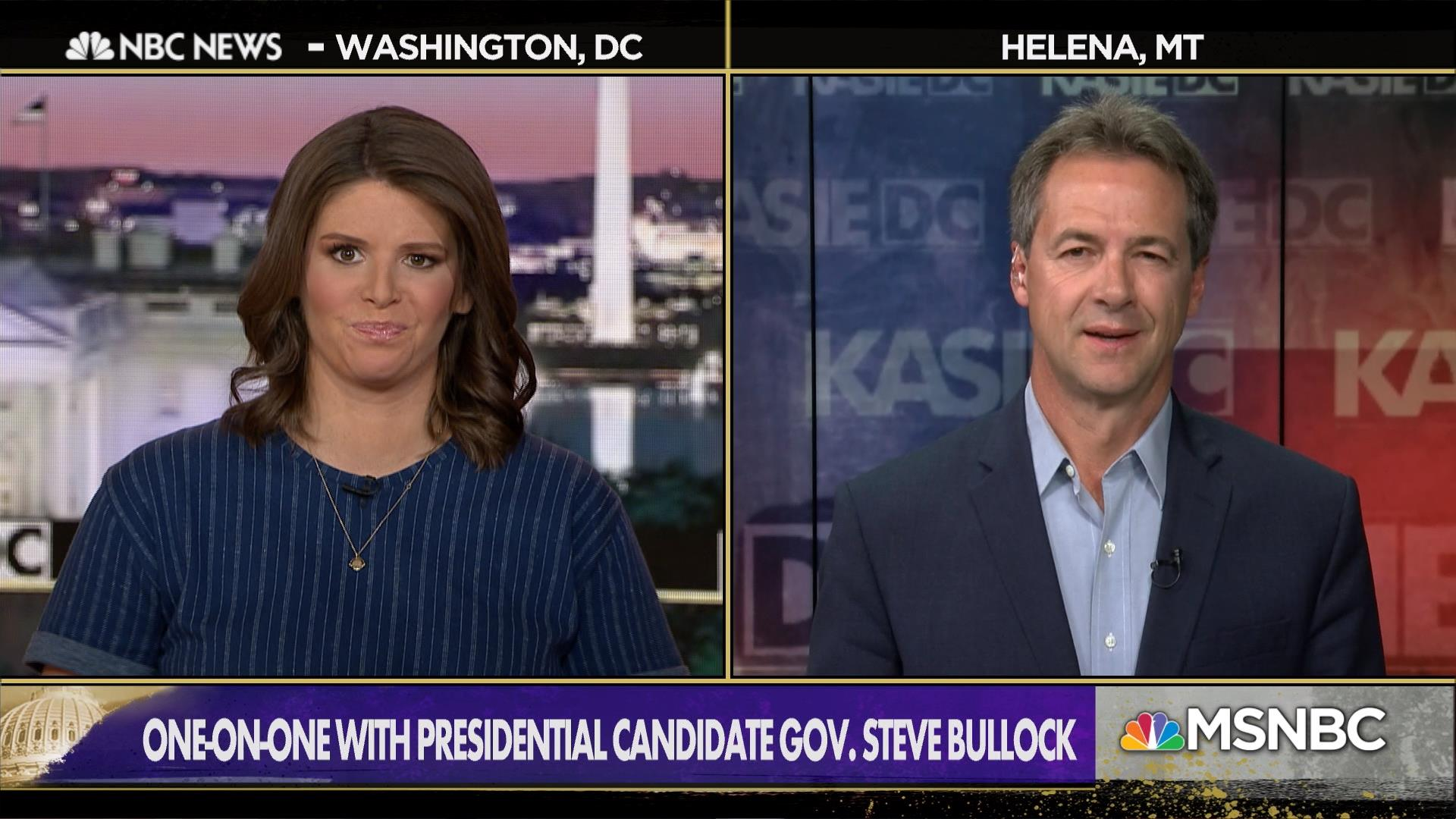 Left off the first debate stage, Gov. Steve Bullock presses forward with a vision of winning where his party has lost