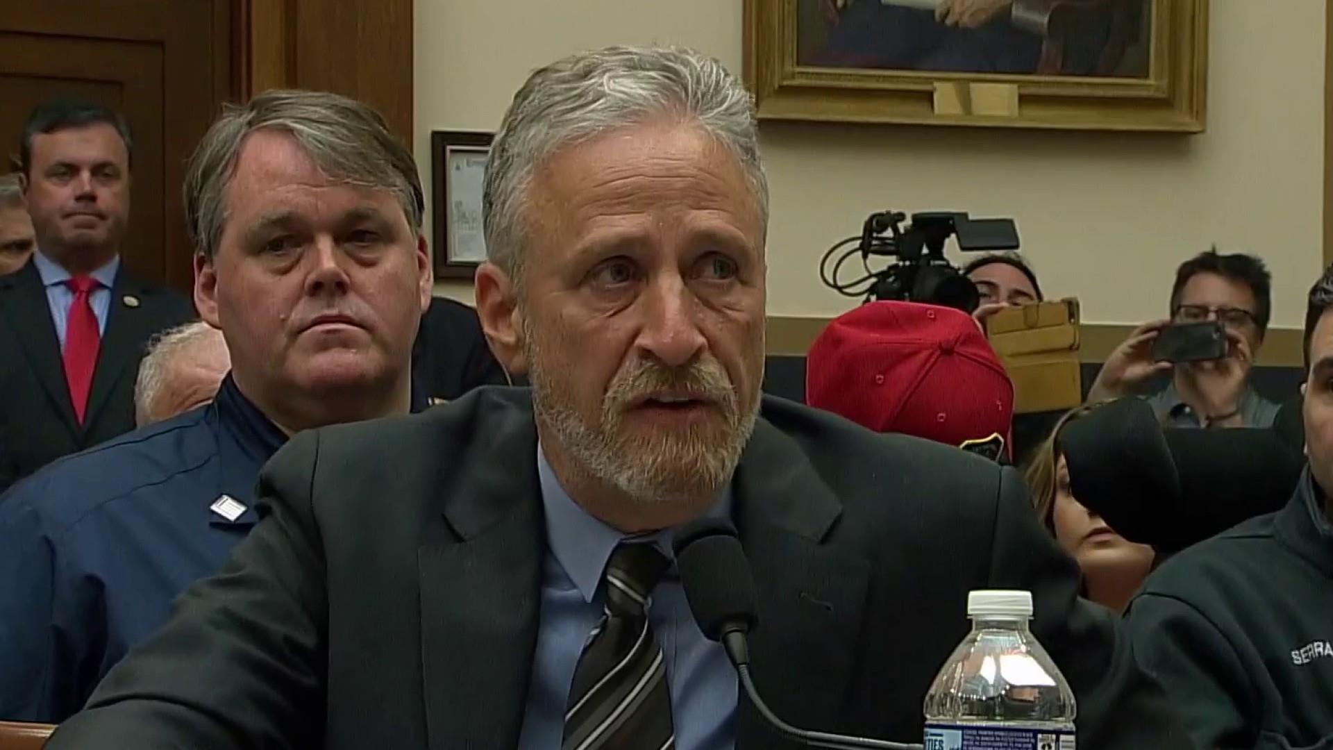 """9/11 responder backs Stewart: """"no question"""" GOP blocking money"""