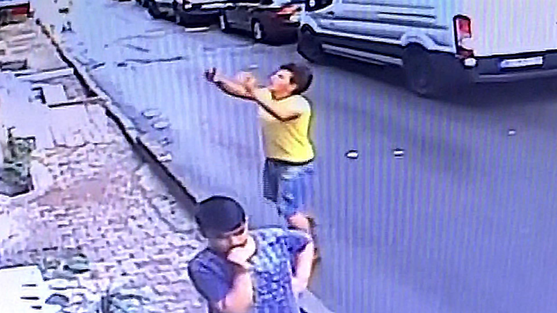 Toddler caught after falling from Istanbul apartment window