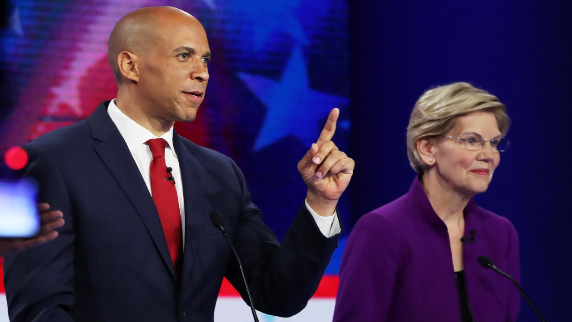 Democrats fail to go after front-runner Joe Biden on night one of MSNBC debate