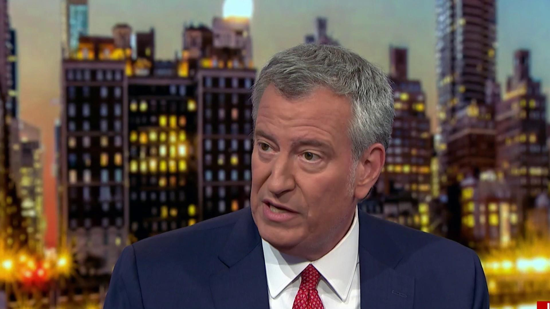 Bill de Blasio: The country's not fair right now