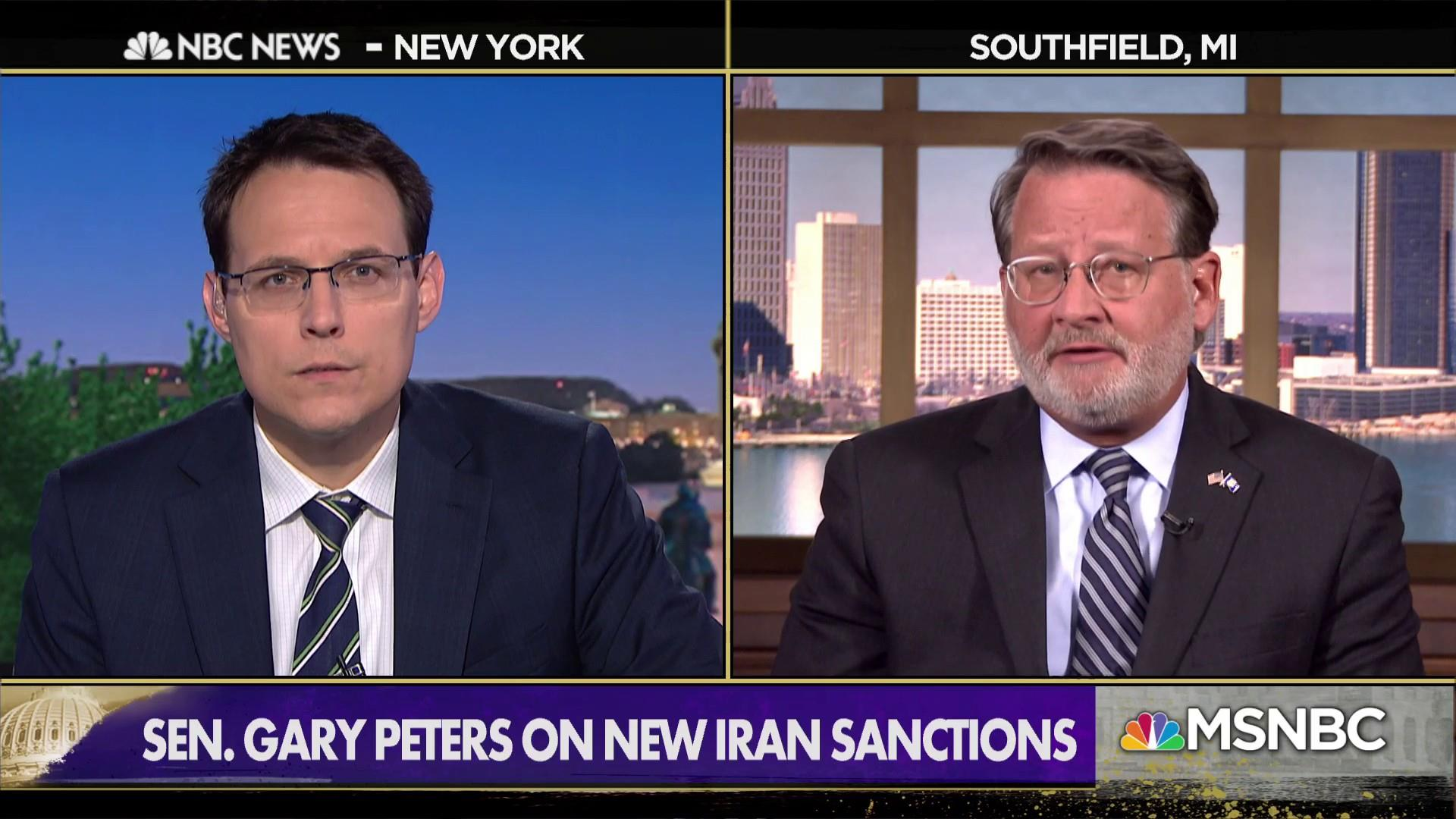 "Sen. Peters: Trump pulled out of the Iran deal, ""now we have chaos'"