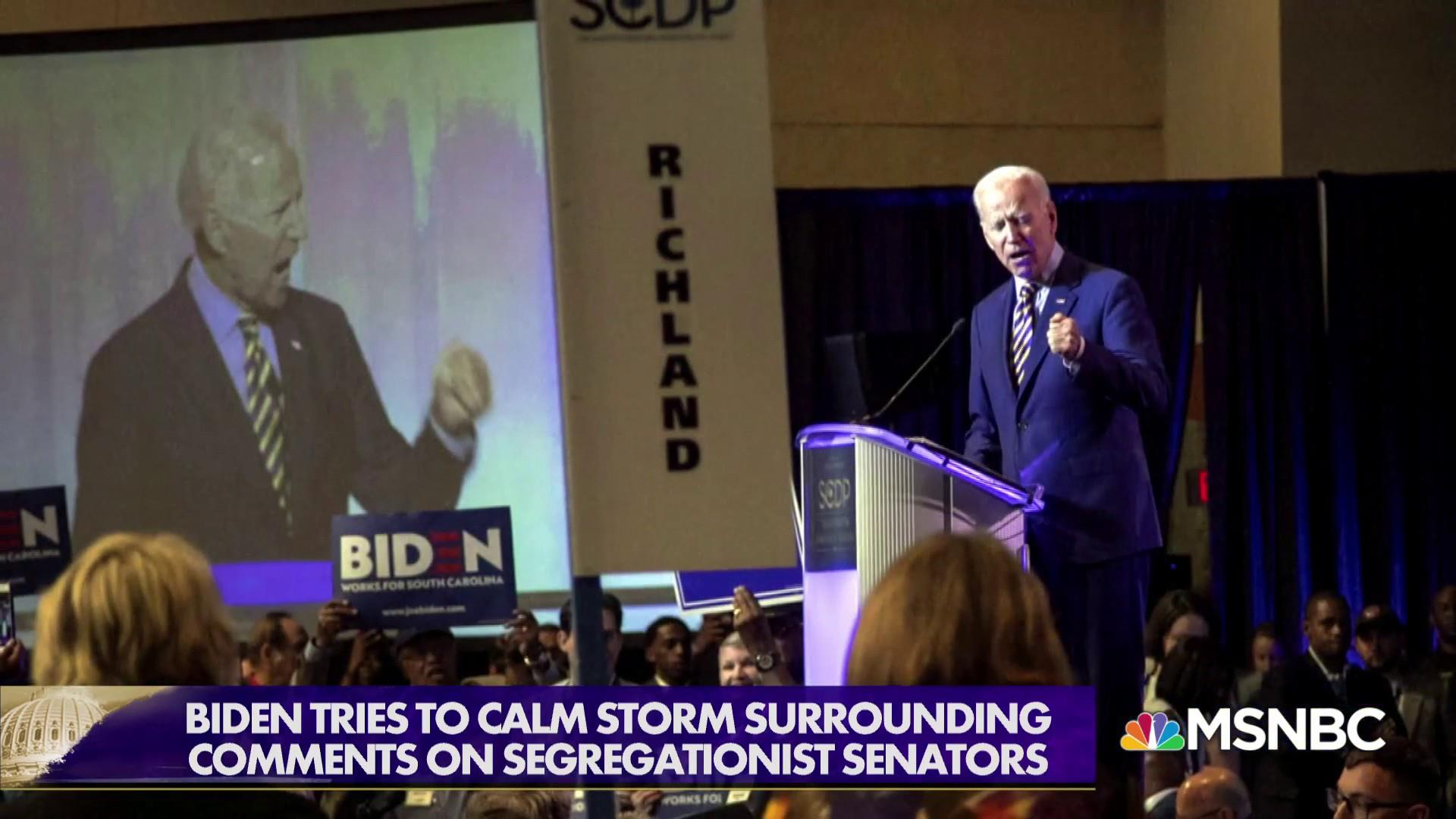 Biden: comments on segregationist Senators taken out of context