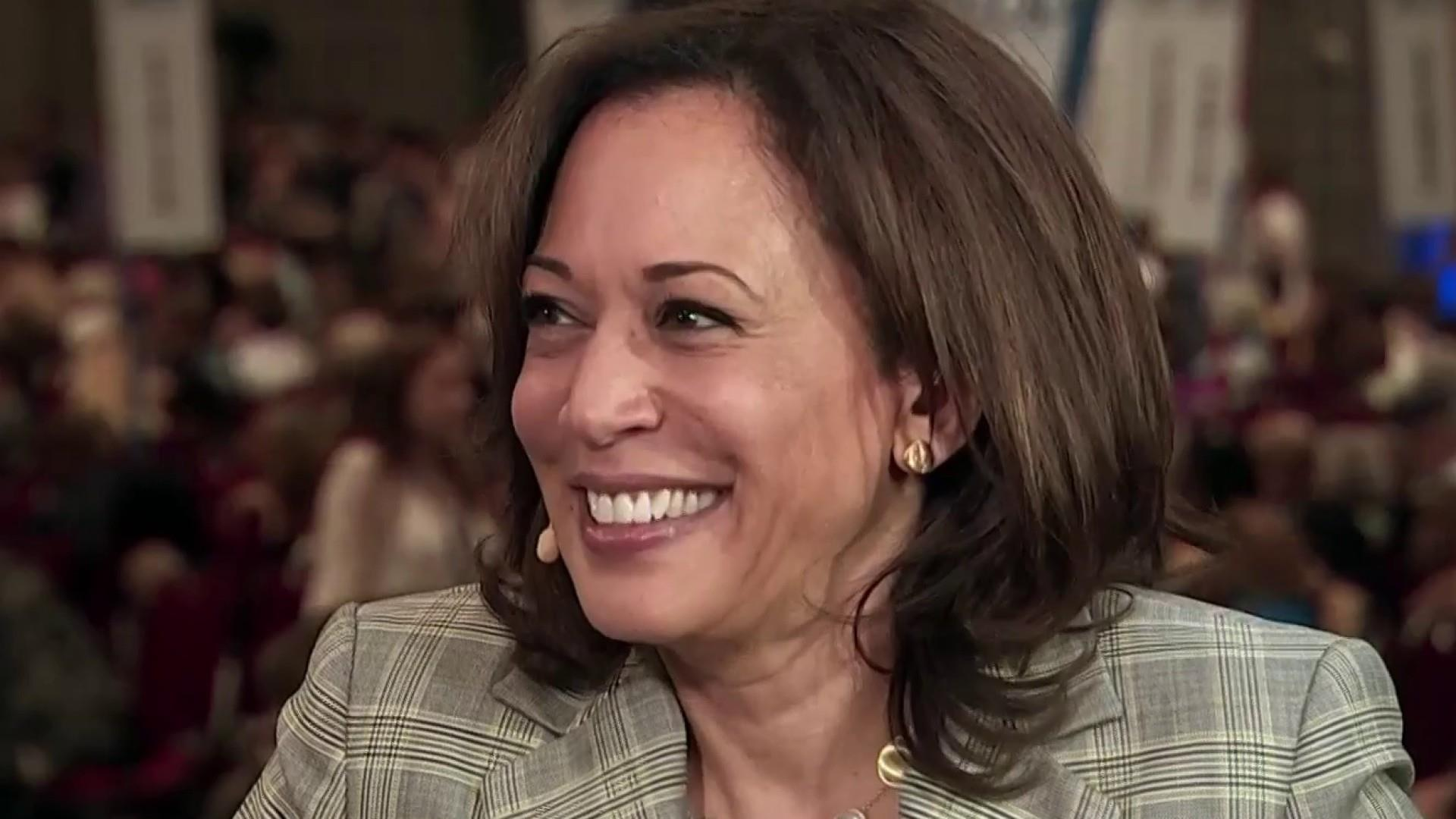 Harris says 'folks are woke' after the 2016 election of Trump